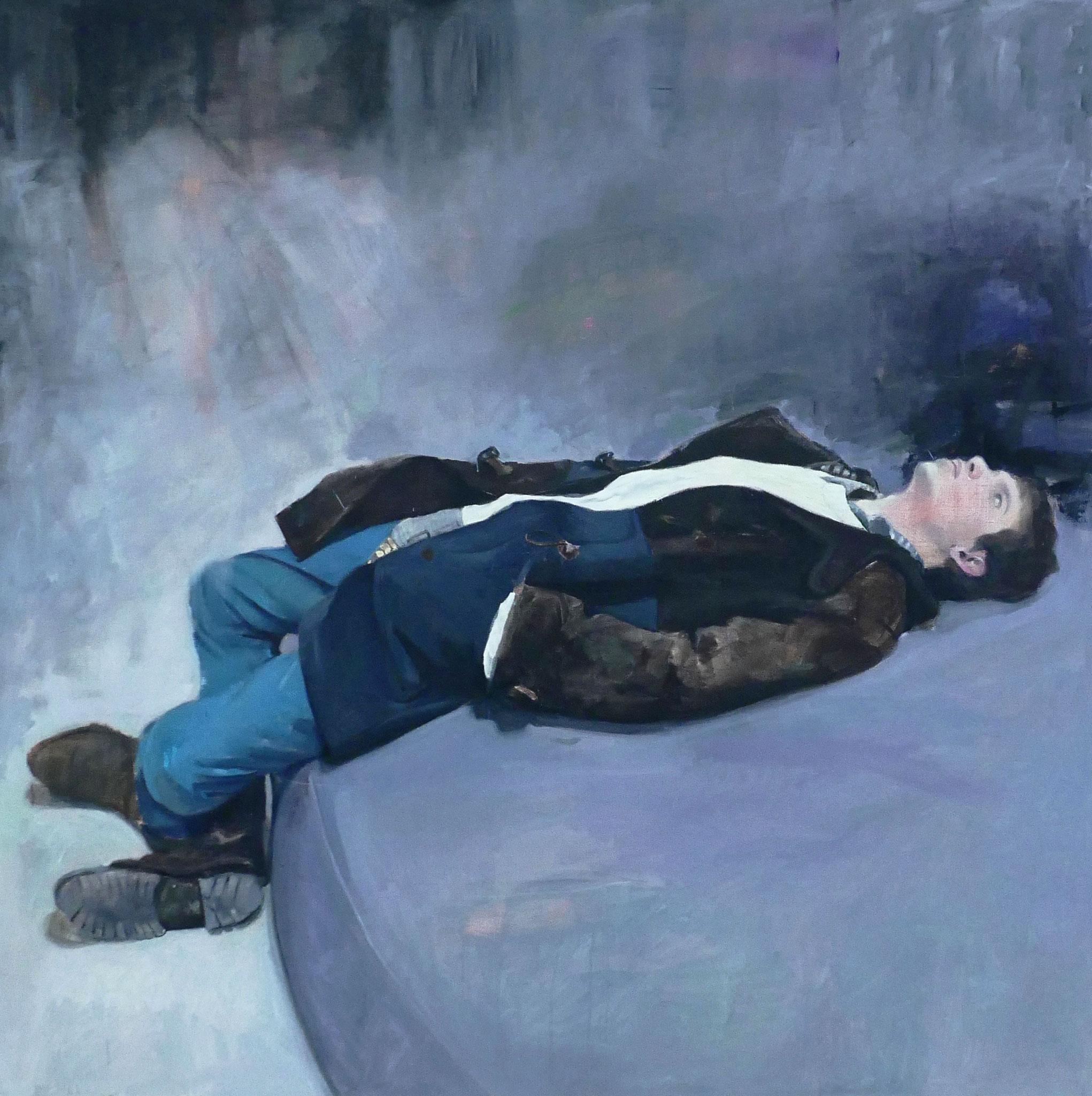 HUGO Huile sur toile  150 cmx 150cm  2017