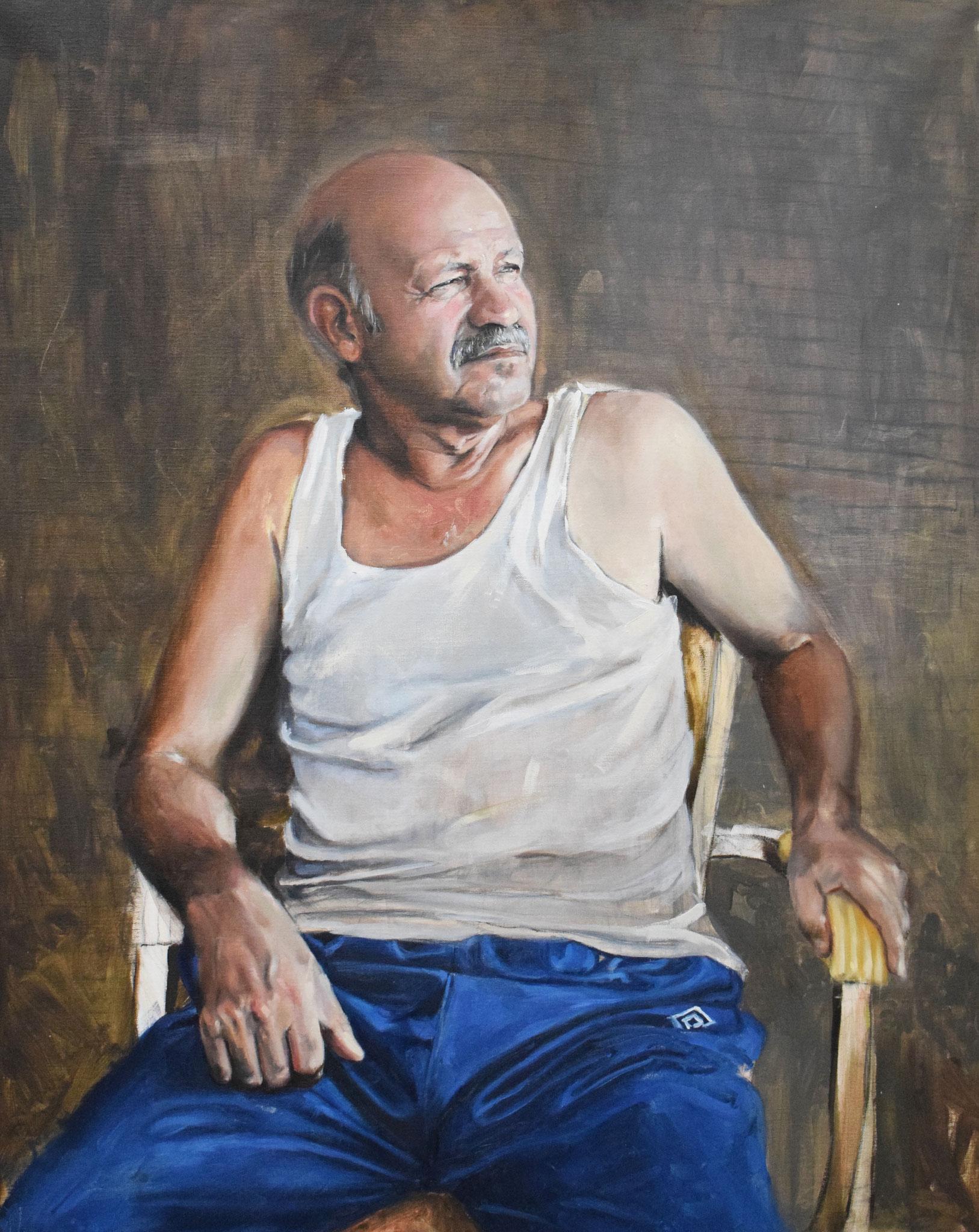 Sid Ahmed  Huile sur toile  120cm  x  90cm  2018