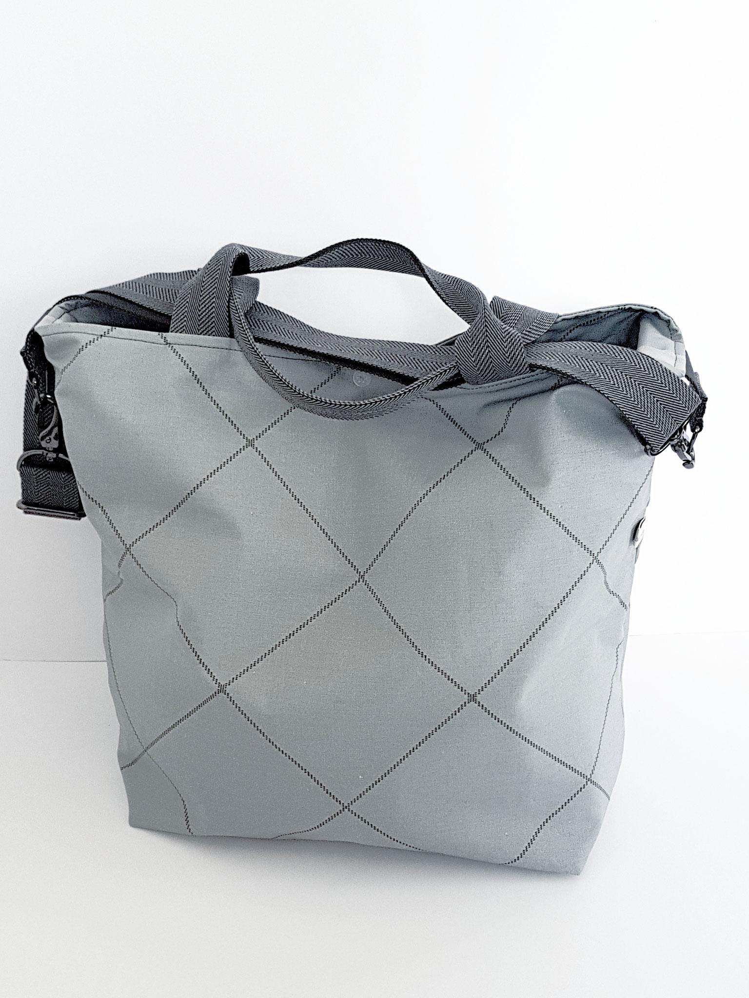 Shopper, grau-schwarz, verkauft