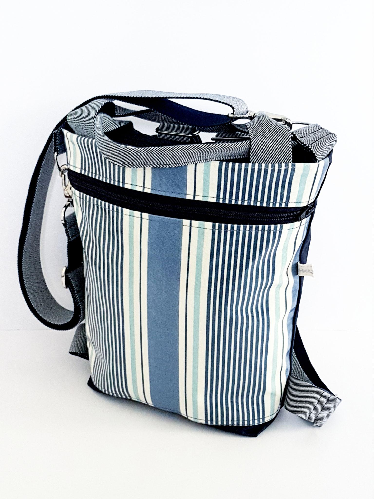 3in1 Bag M, waxed Canvas kombiniert mit Wachstuch, verkauft