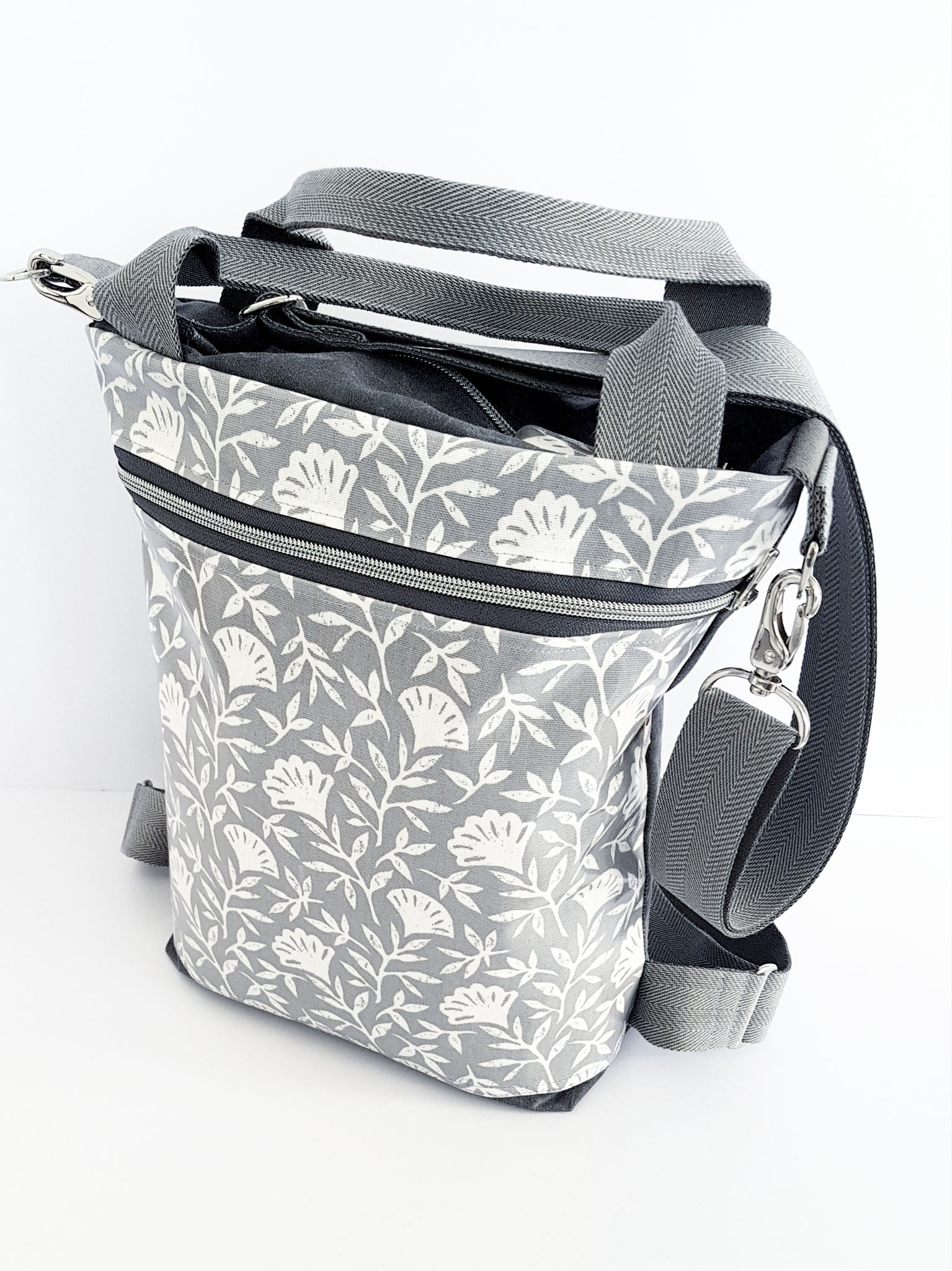 3in1 Bag M, Oilskin grau, verkauft