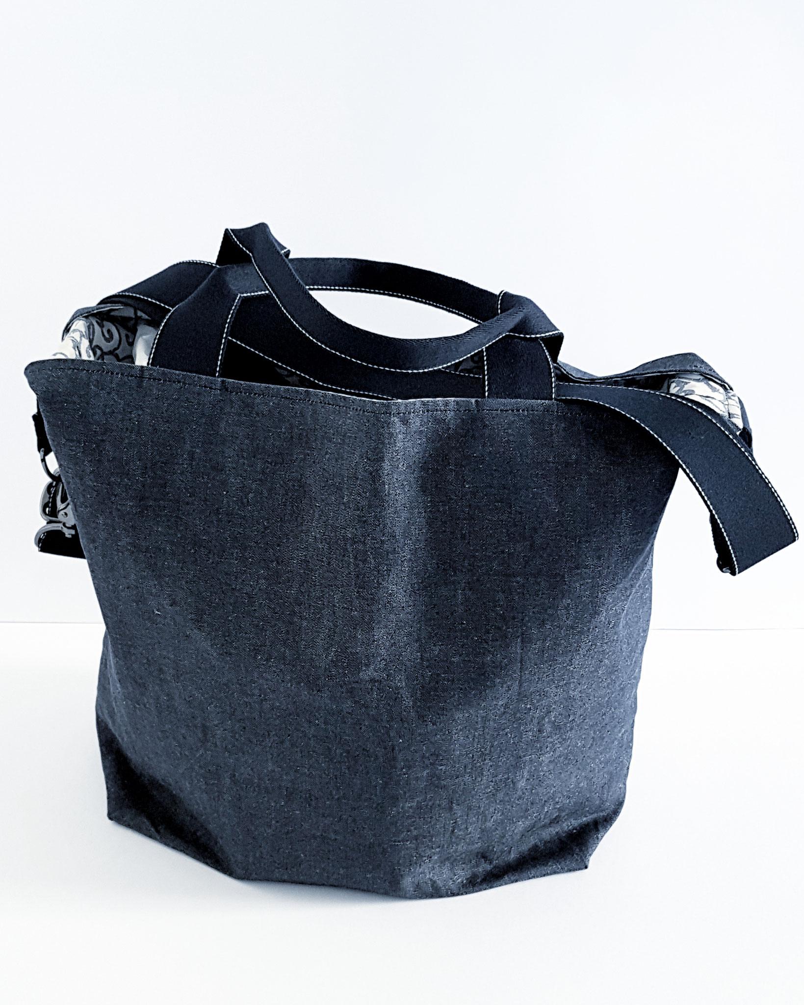 Shopper, trockener Oilskin Jeans, verkauft