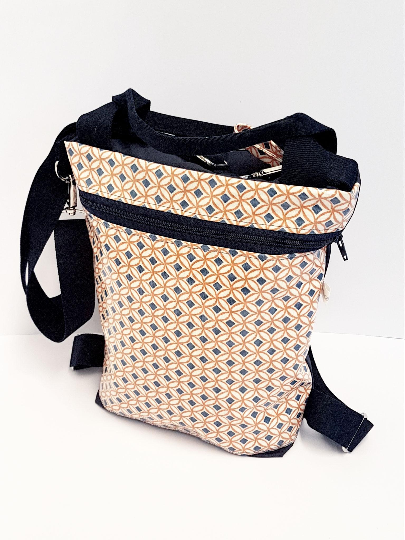 3in1 Bag M, Gewachster Canvas-Wachstuch, verkauft