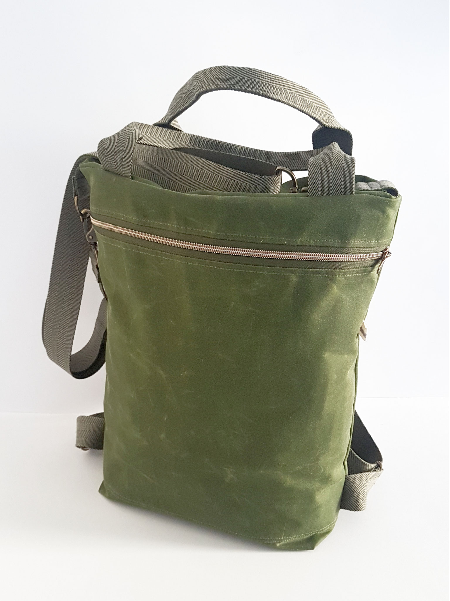 3in1 Bag Oilskin farn, verkauft