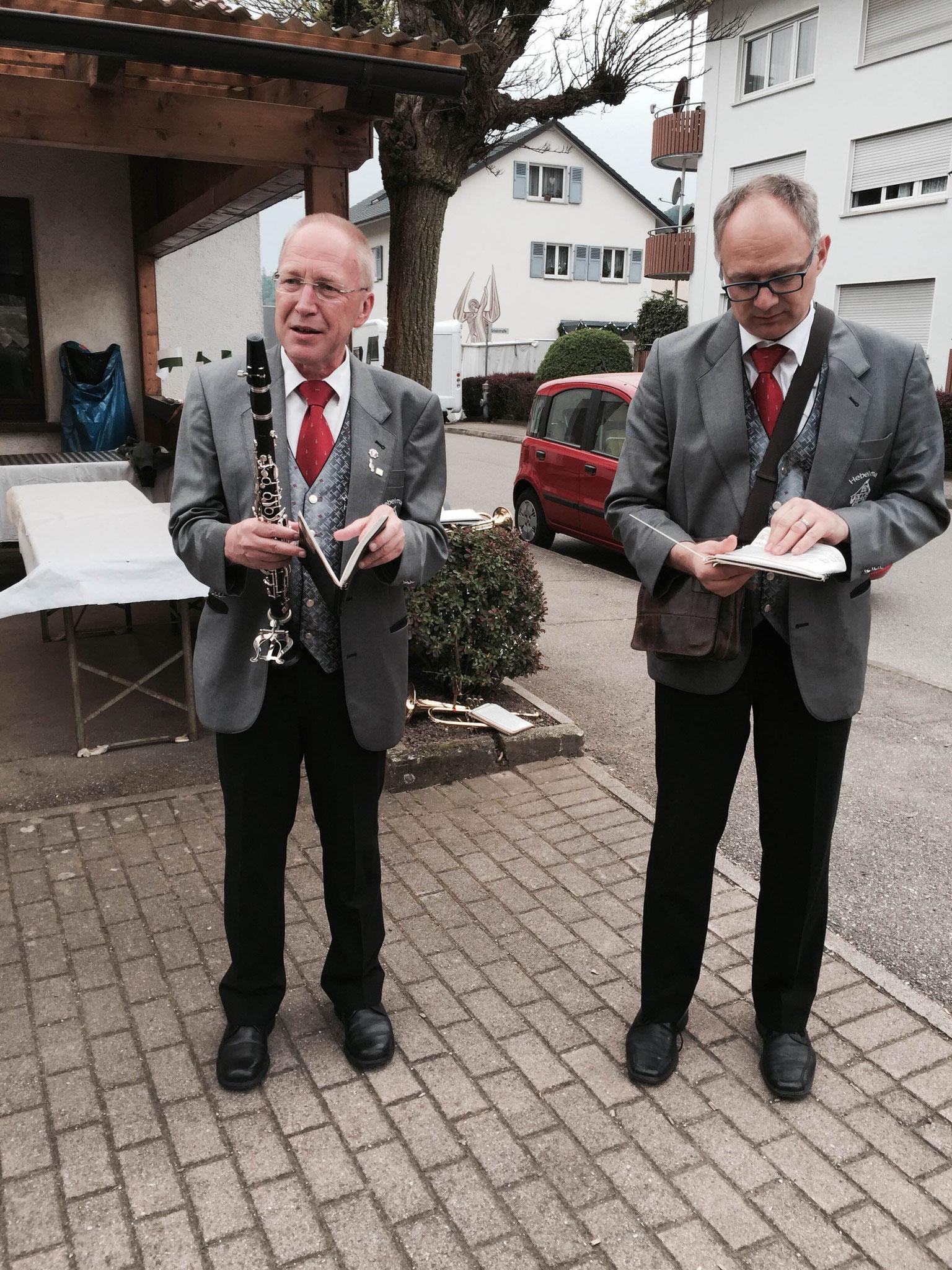 Roland und Jean-Christophe machen sich bereit