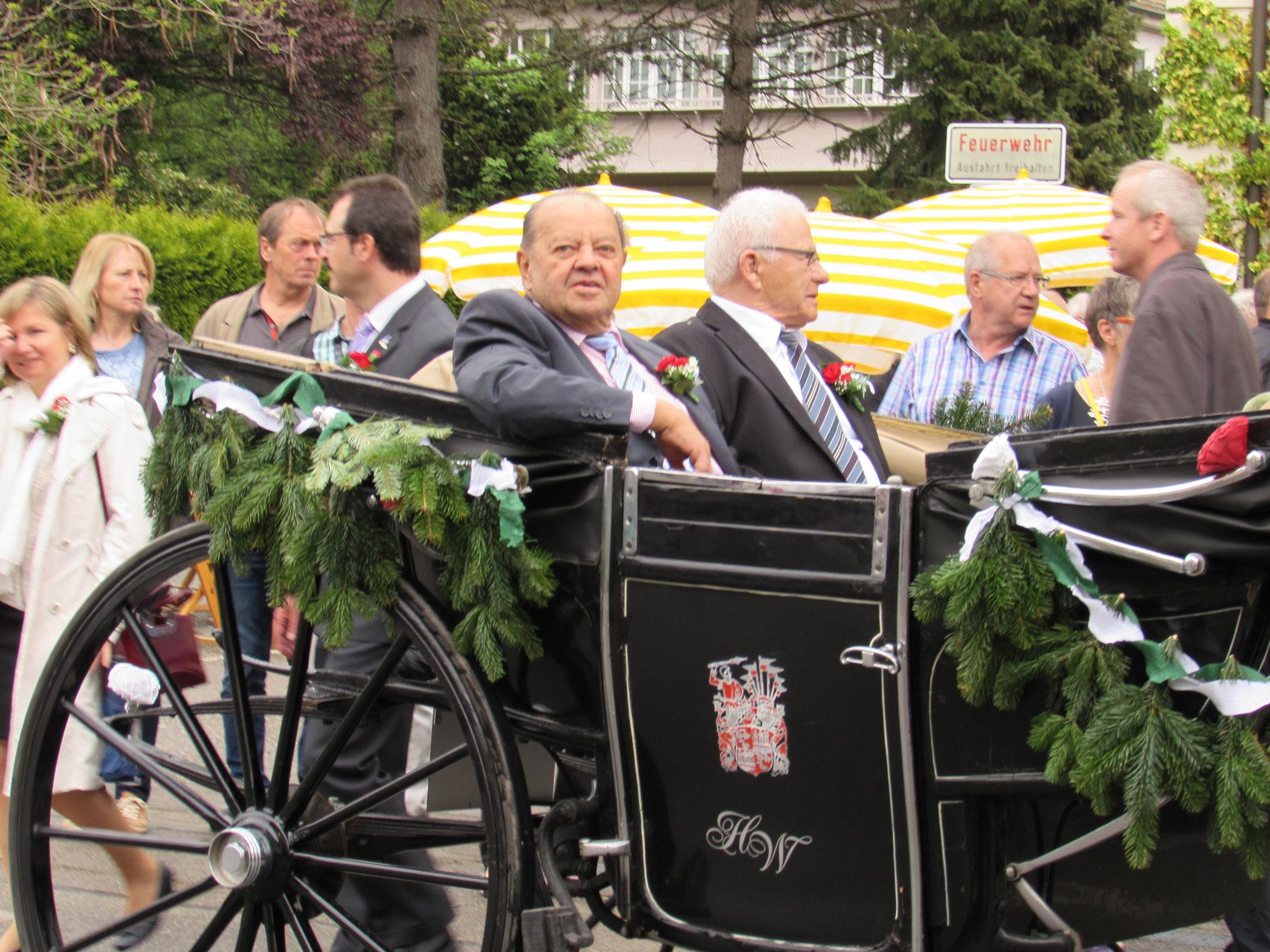 Gerhard in der Kutsche