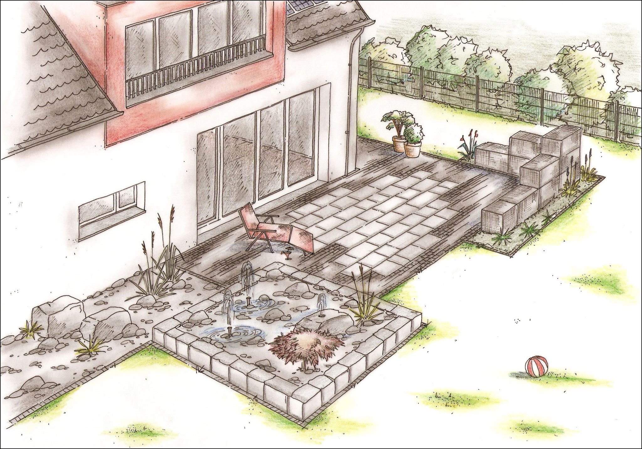 Schlicht gartenplanung galerie torsten schlicht gartenplanung visualisierung hannover - Gartenplanung hannover ...