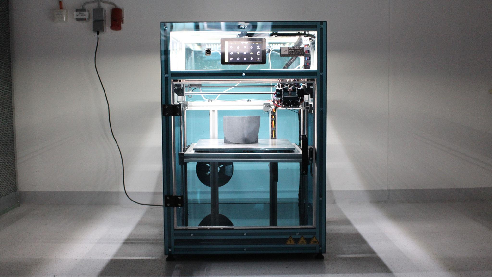 Großformat Drucker (hier 400x400x400mm)