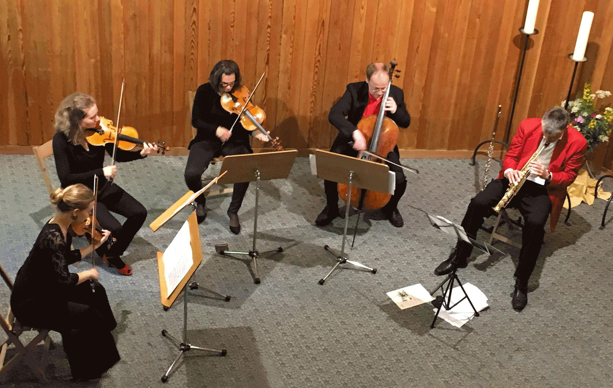 2017 Daniel Schnyder, Saxofon und Streichquartett