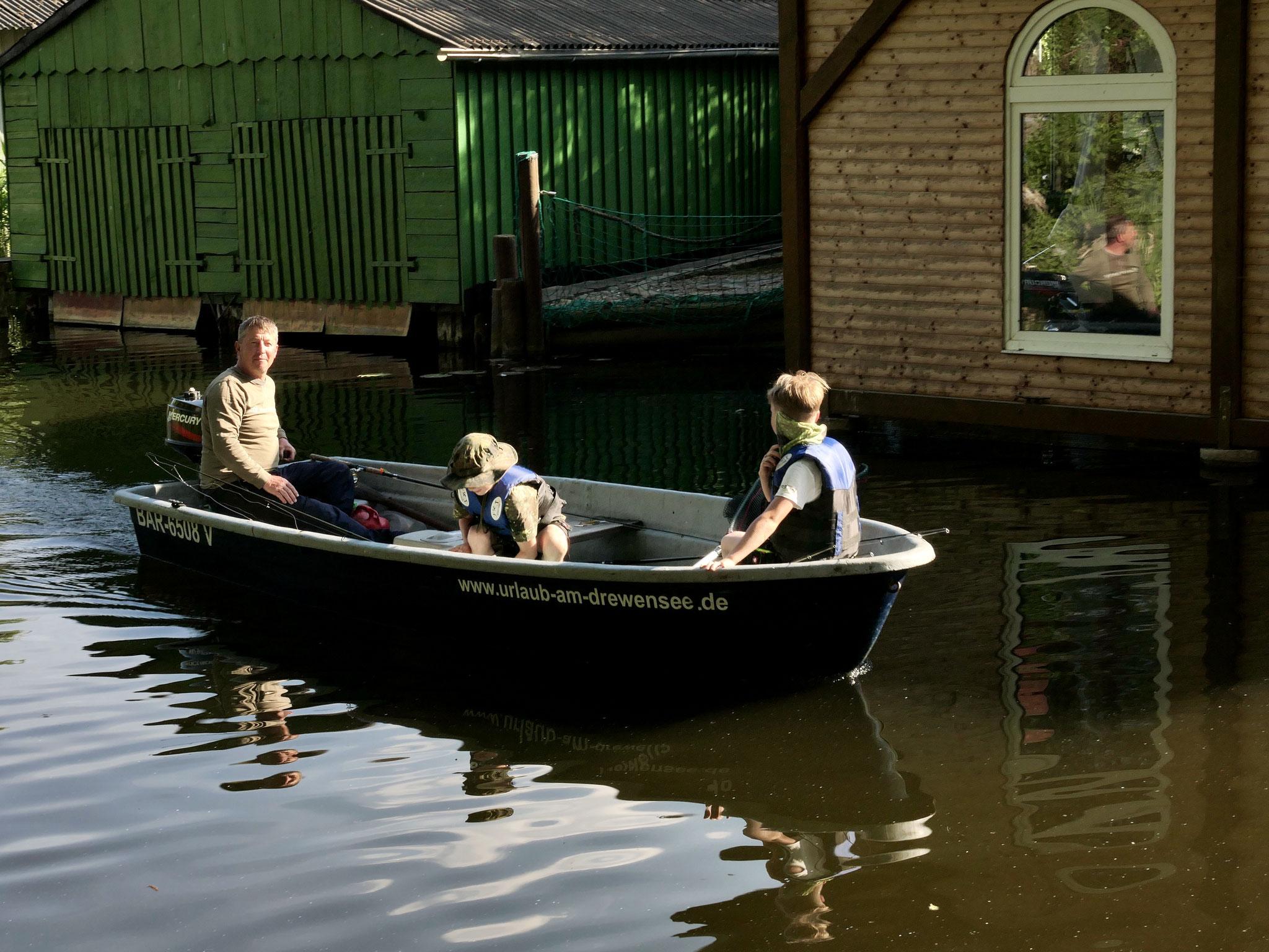Unsere Super-Angler kehren heim vom Drewensee