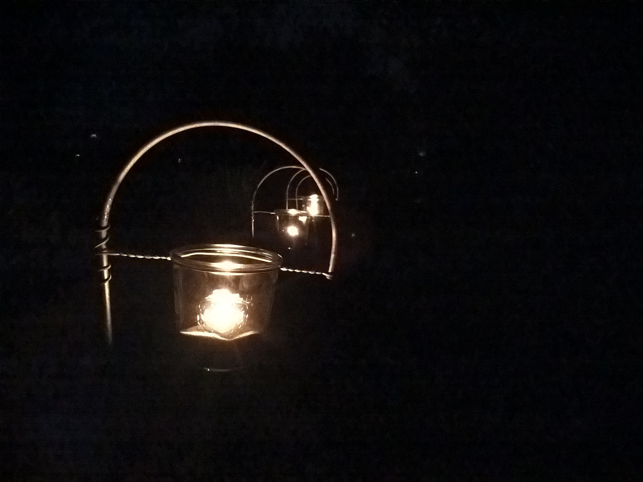 Stab mit Kerzenglas 100 mm
