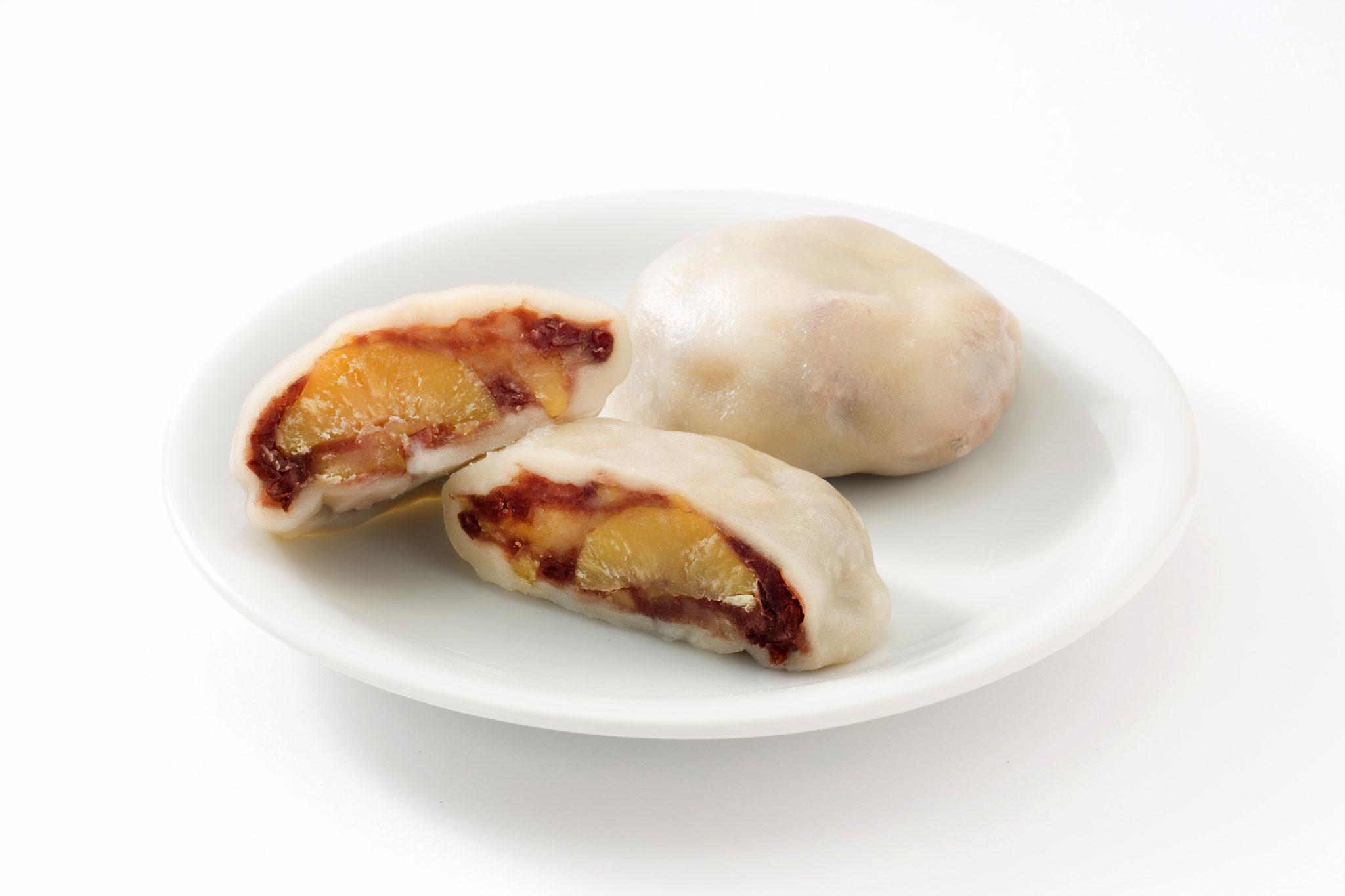 Bikkuri Dango (boulette de pâte de riz avec des marrons)