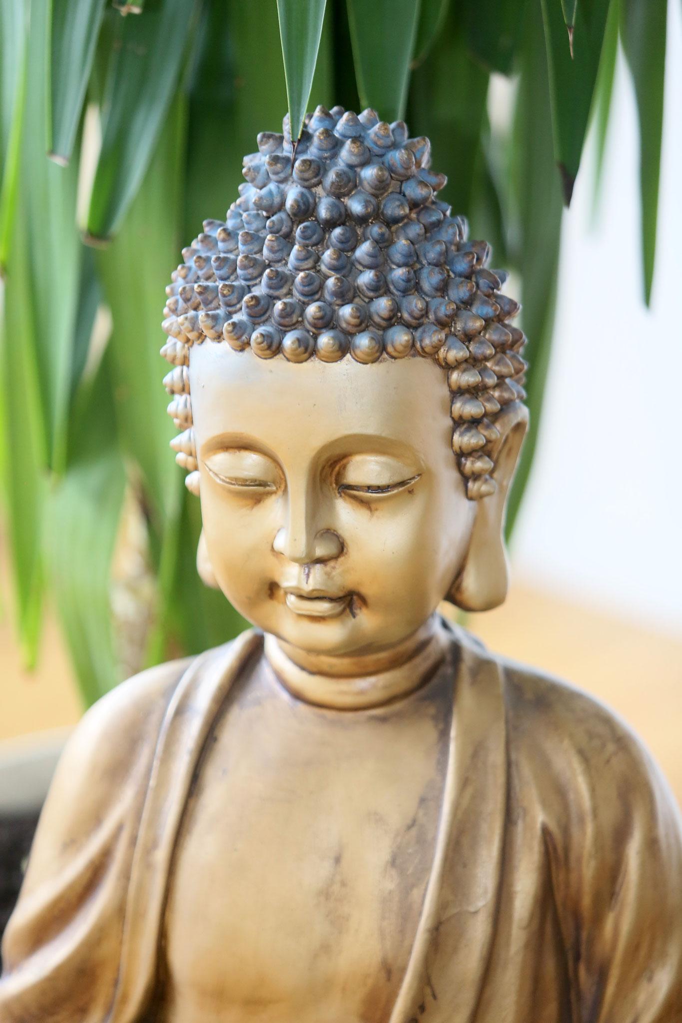 Unser Kursraum-Buddha mit Brunnen