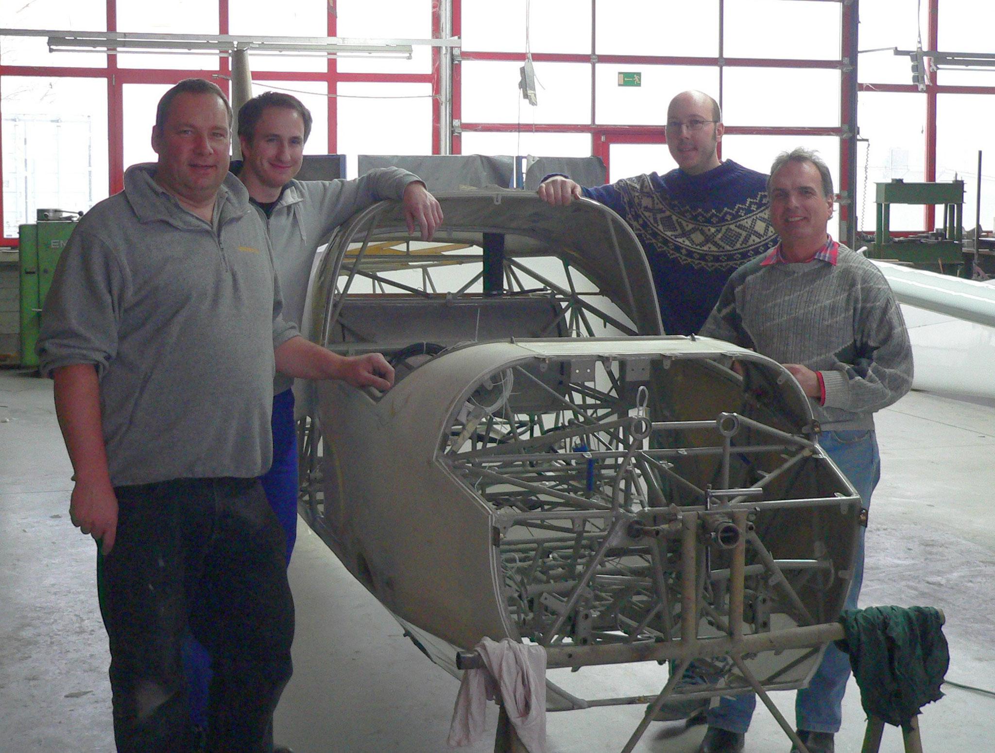 ein Teil des erfolgreichen Arbeitsteams: Jörg, Thomas H., Markus, Thomas F.  (v.l.)