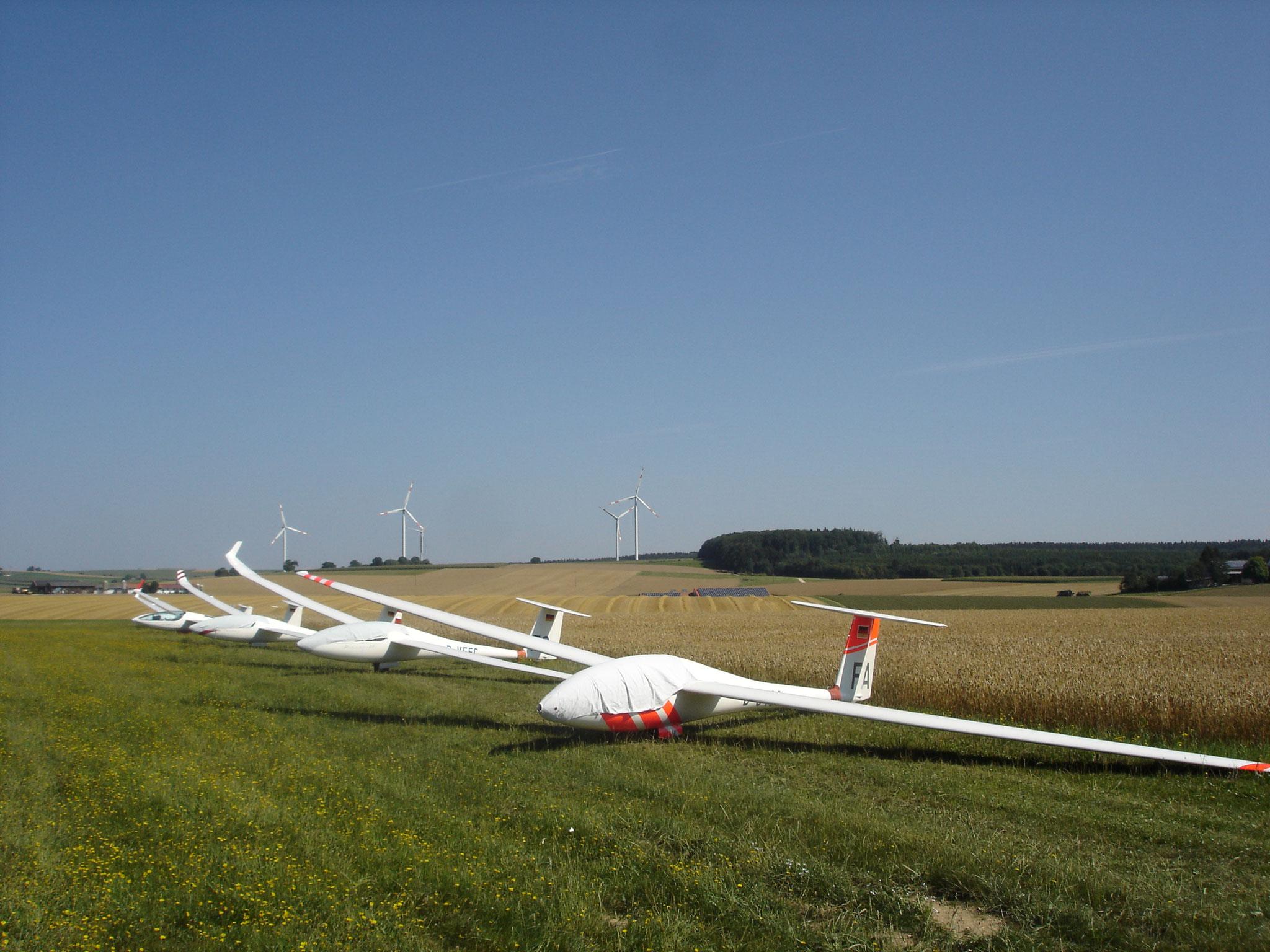 Flugzeuge bereit zum Start