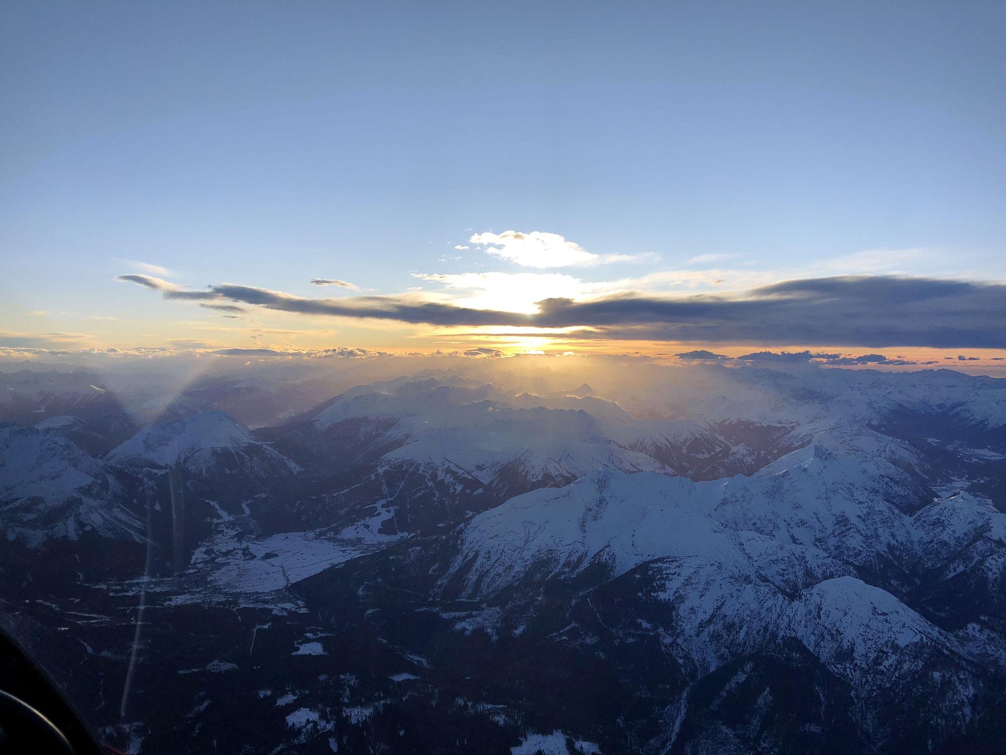 Abendstimmung über Garmisch