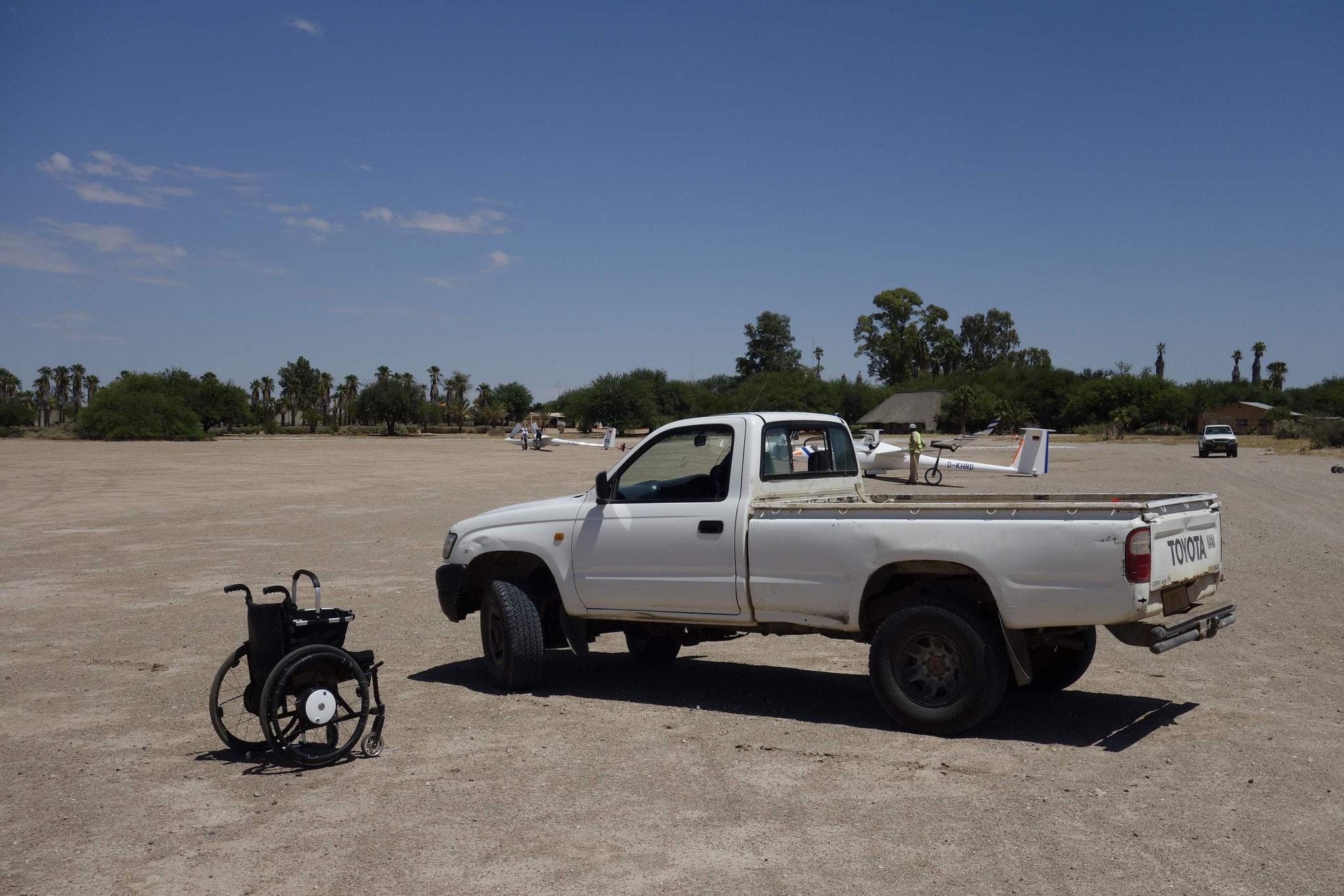 Es geht auch mit Handicap. Arcus M modifiziert auf Handsteuerung. Super!!