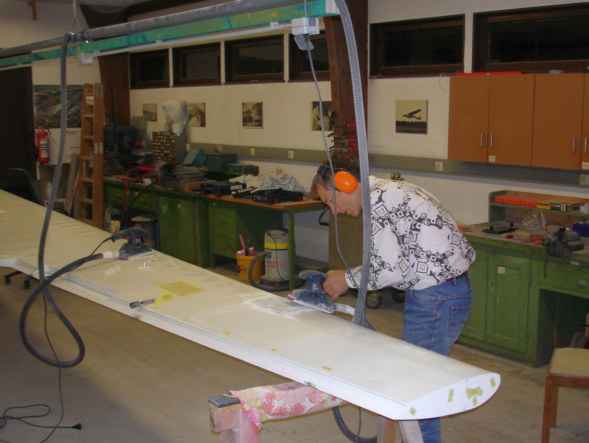 Reinhard schleift auf der Flügelunterseite