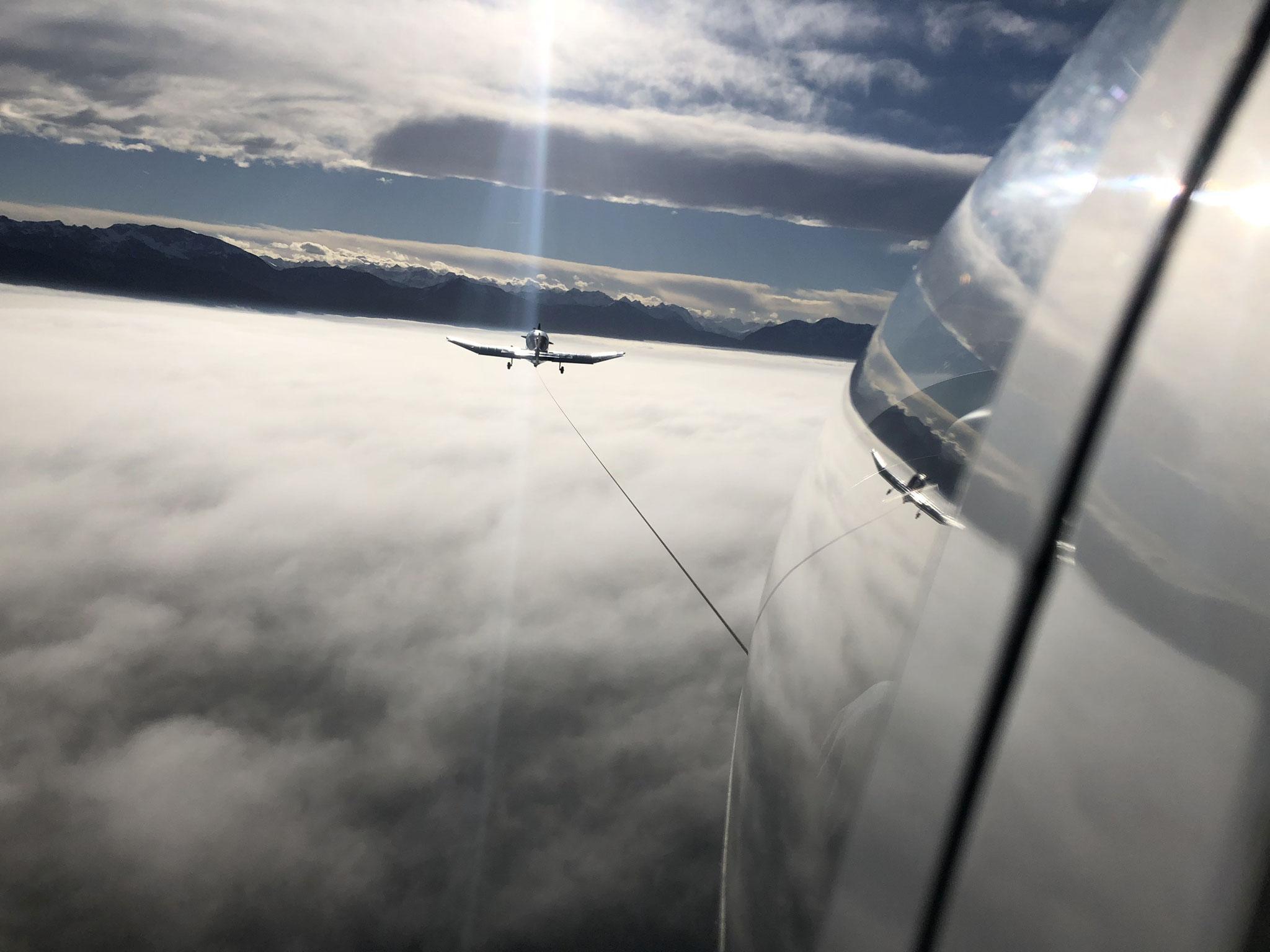 Flugzeug-Schlepp