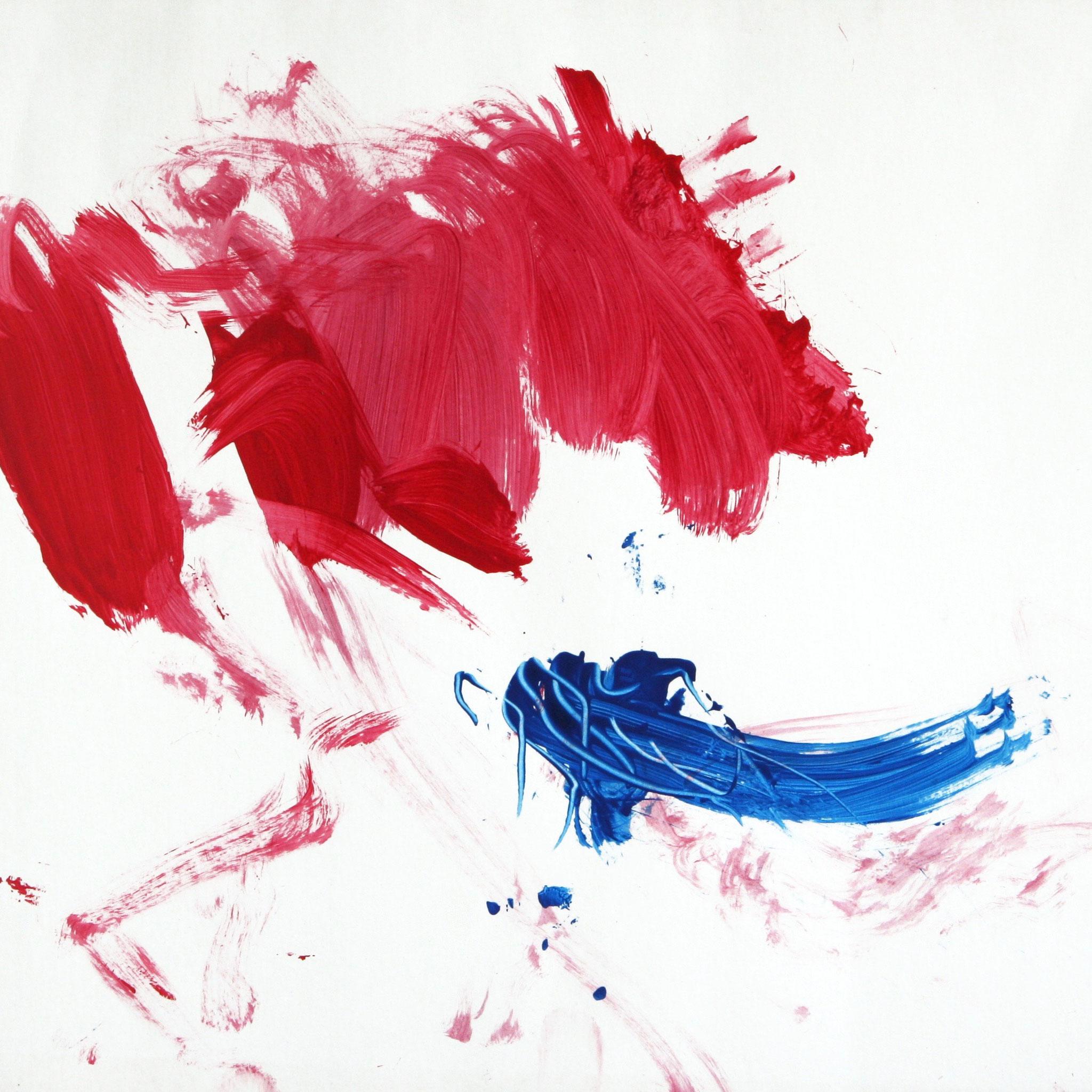 Sandra 0028, 2006, Fingerfarbe auf Pappe, 45 x 62 cm