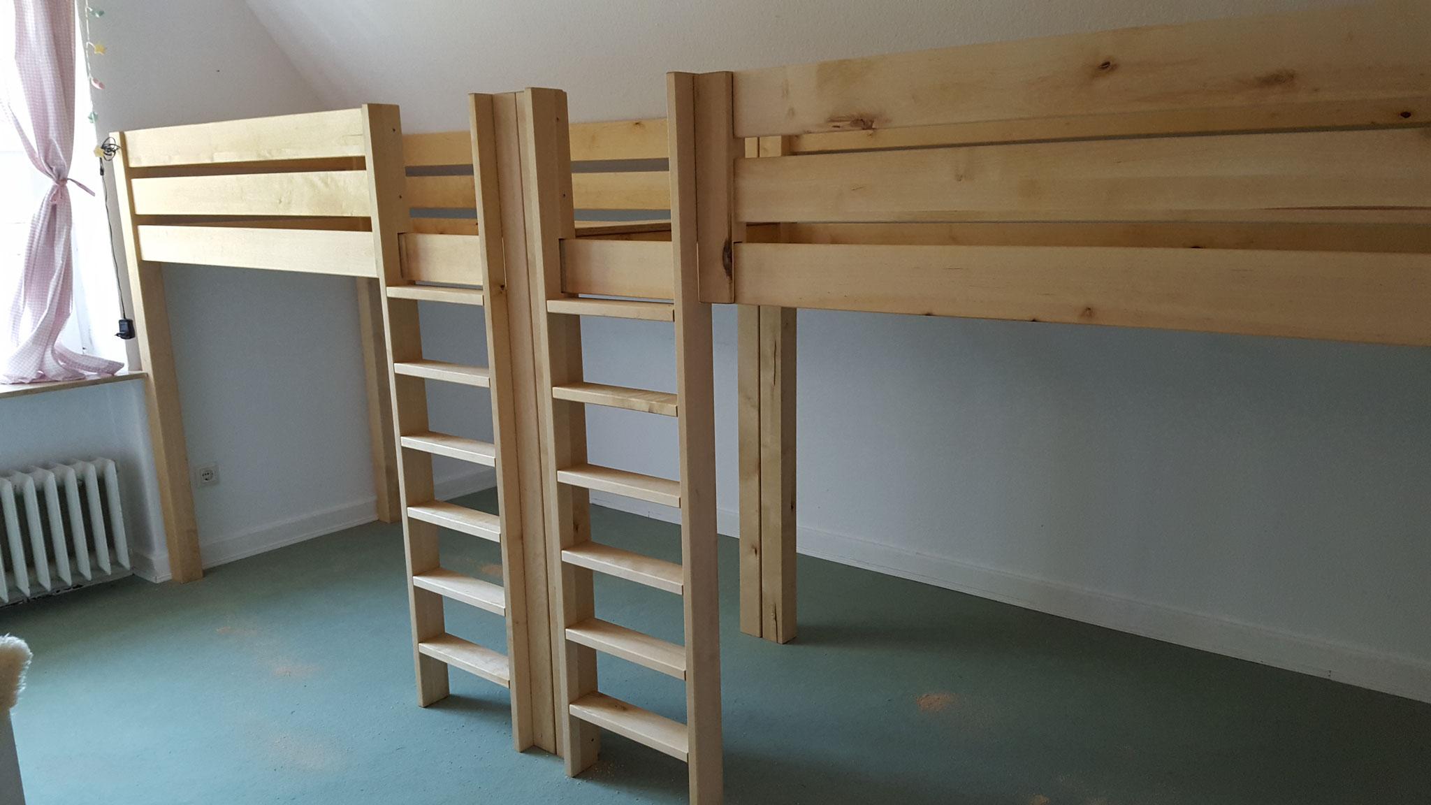 Doppel-Hochbetten  aus Birkenholz , Oberfläche geölt