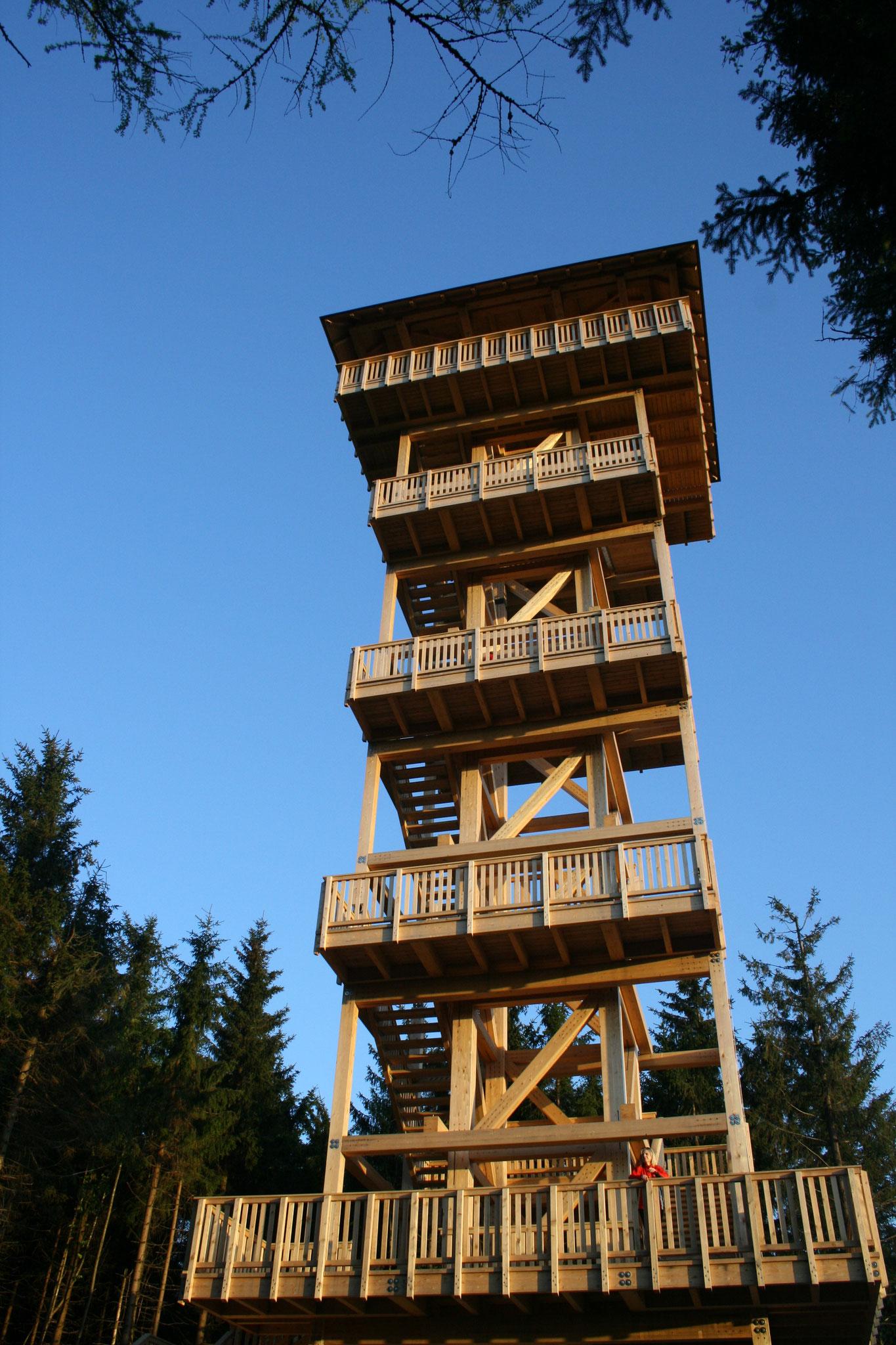 Alpenblick - Aussichtsturm mit Weitblick bis zu den Alpen, @TVBöhmerwald