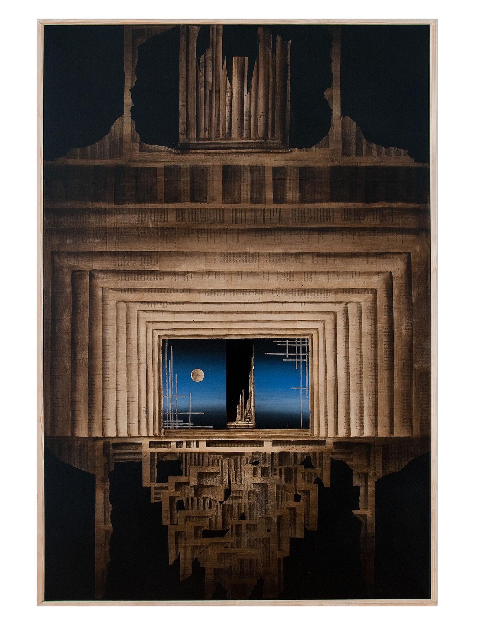 GOETHEDÄMMERUNG - 2013 - Acryl, Tusche, Papier - 124 x85 cm