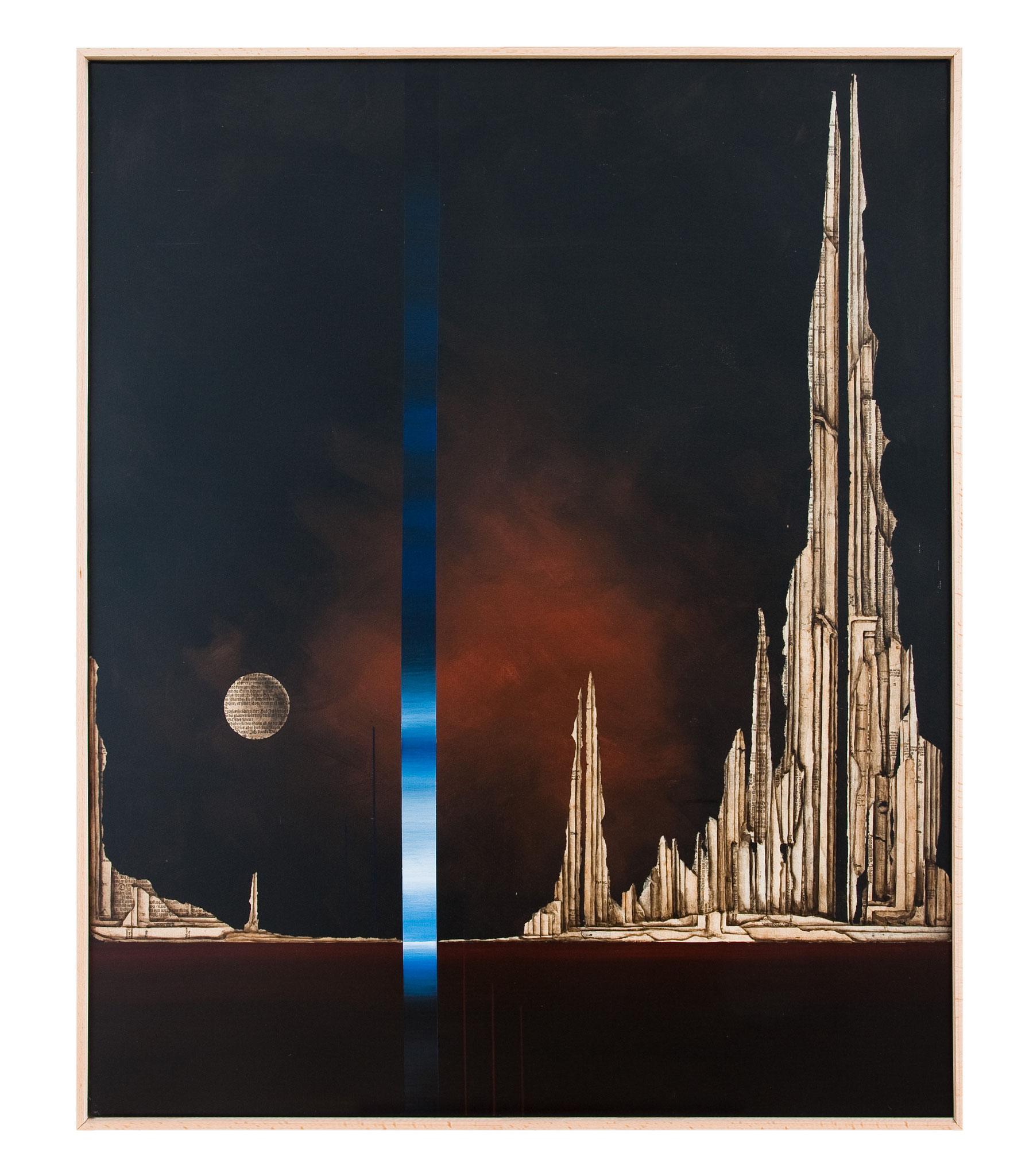 ZEIT (T) RAUM III - 2013 - Acryl, Tusche, Papier auf Leinwand  - 122 x102 cm
