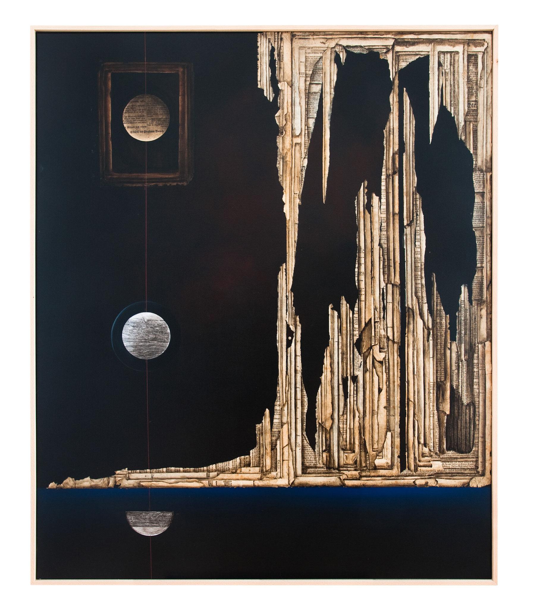 ZEIT (T) RAUM IV - - 2013 - Acryl, Tusche, Papier auf Leinwand  - 122 x102 cm