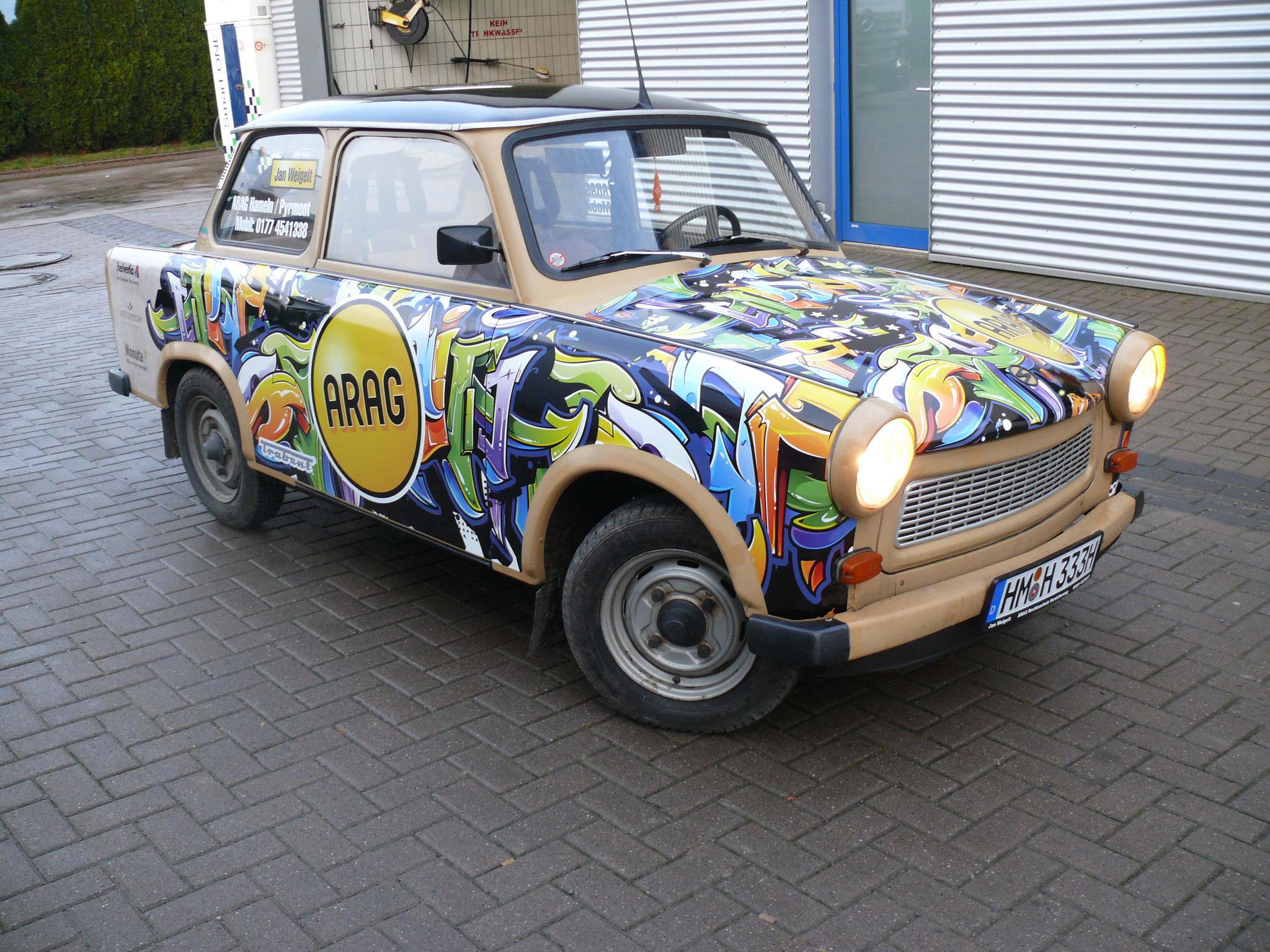 Fahrzeugbeschriftung eines Oldtimers
