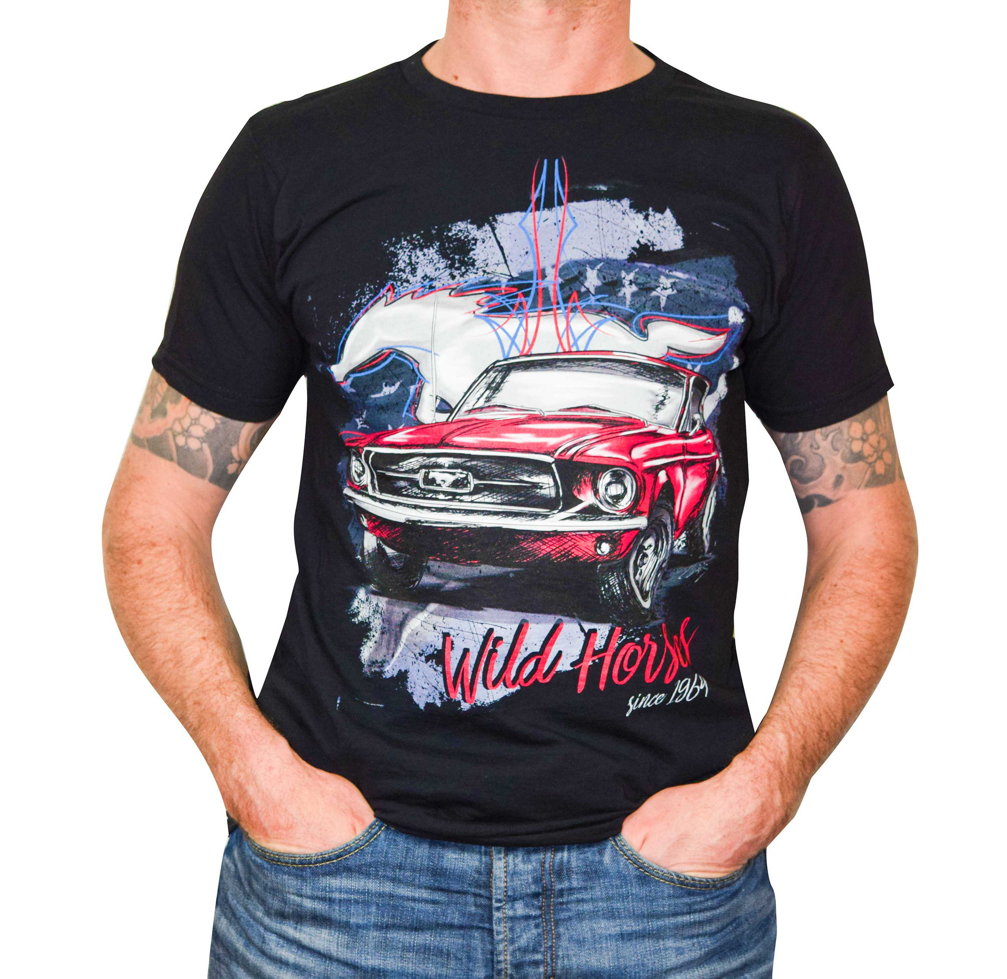 Muscle Car T Shirt Ford Mustang Petrolheads Einzigartige T Shirt