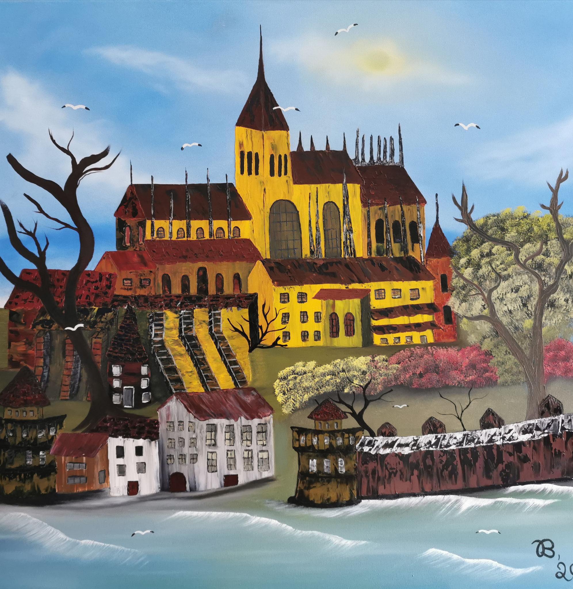 (44)     Mont Saint Michel     80 cm x 80 cm