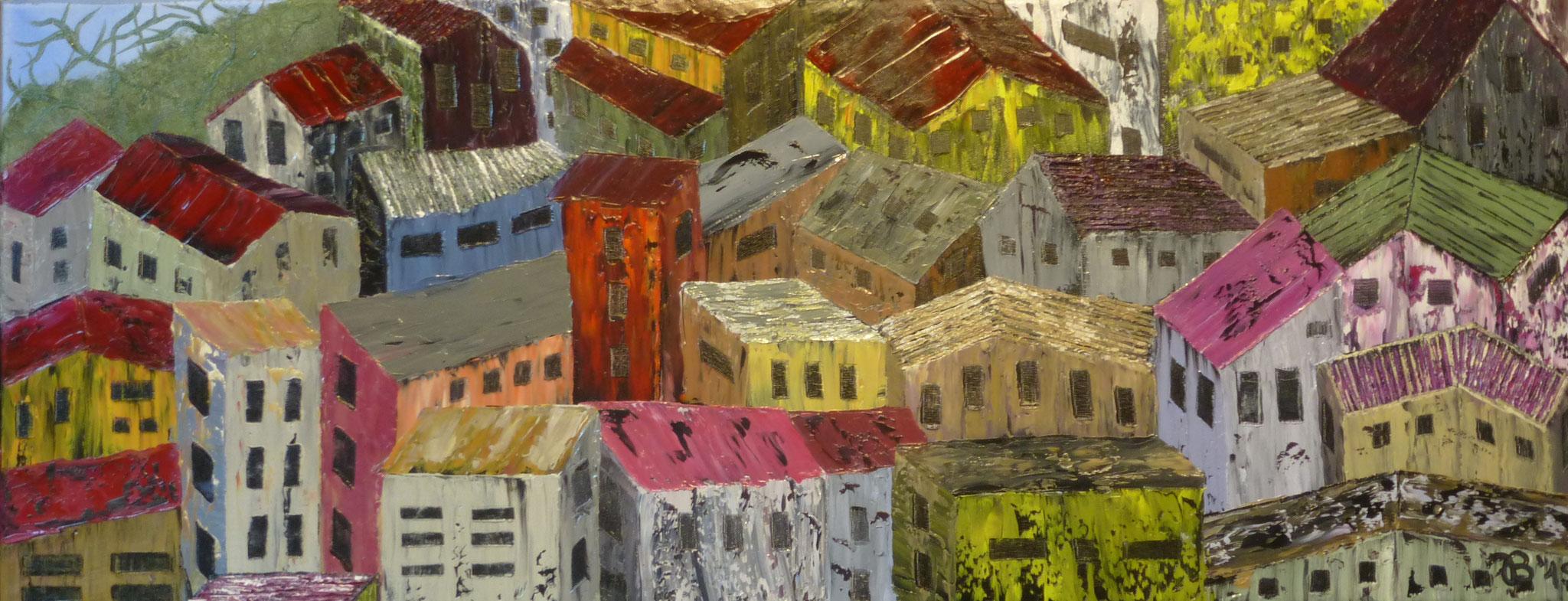 (59)     Stadt-Natur     100 cm x 40 cm