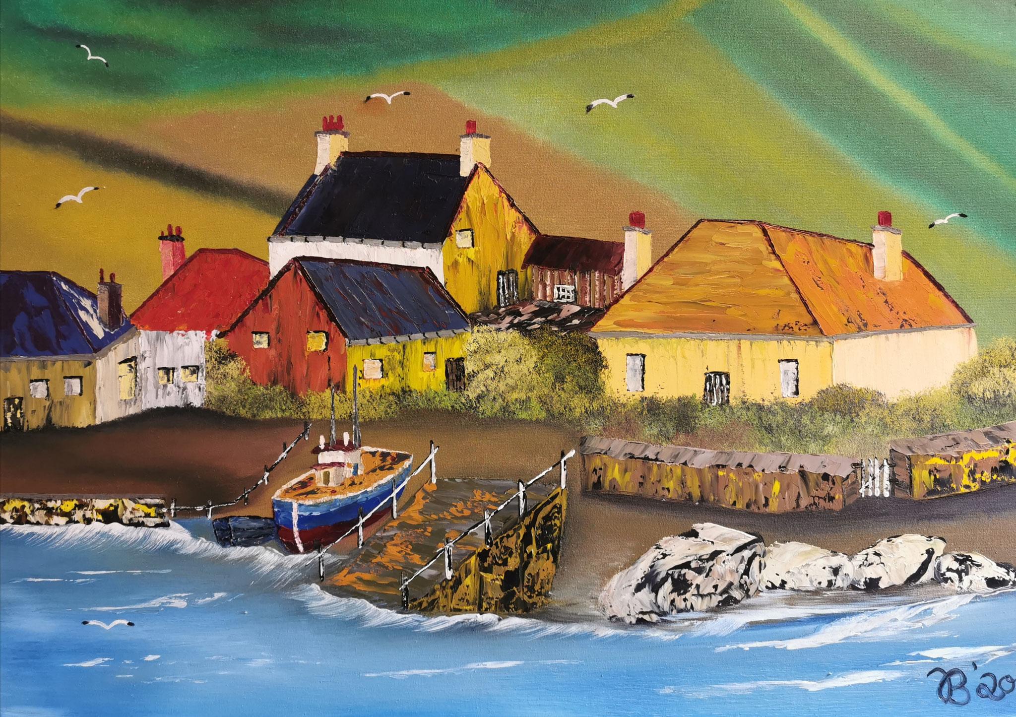 (24)     Bretonische Küste     70 cm x 50 cm