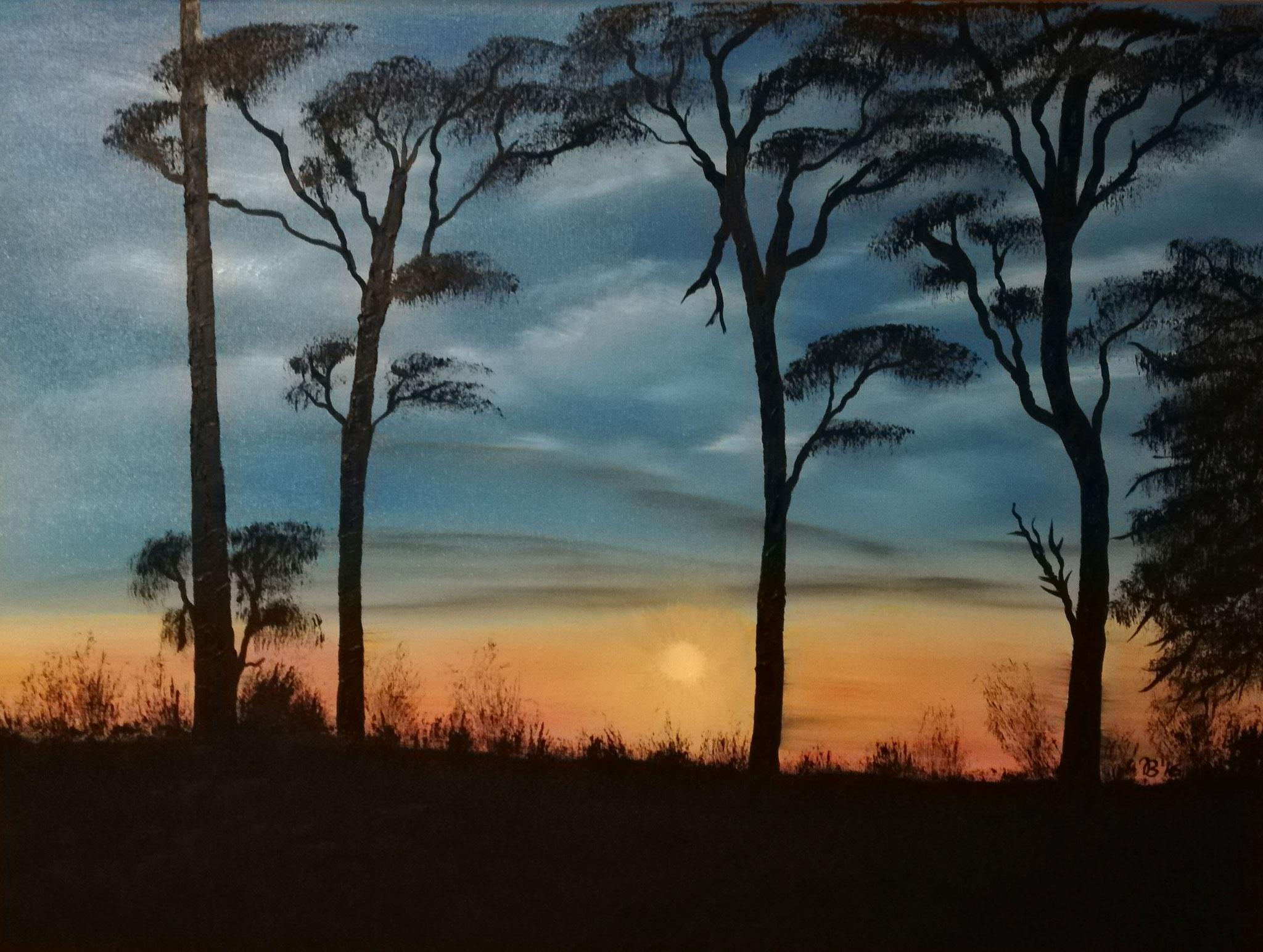 (82)     Sonnenuntergang in Saizeray     80 cm x 60 cm