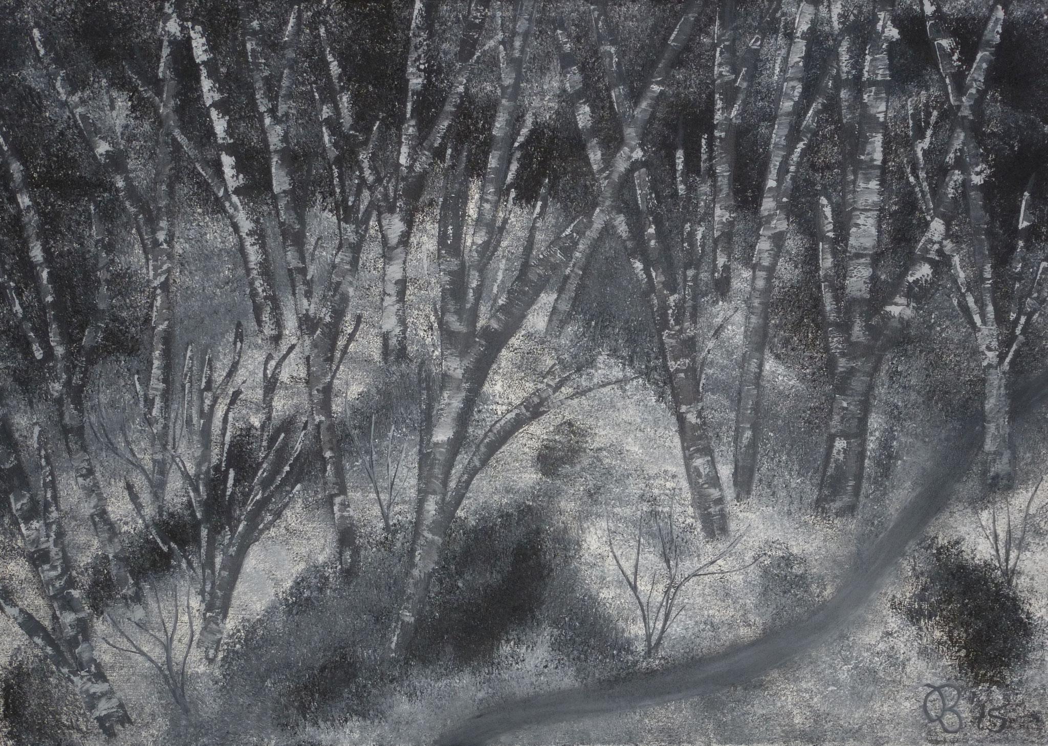 (85)     Birkenwald in Finnland     70 cm x 50 cm