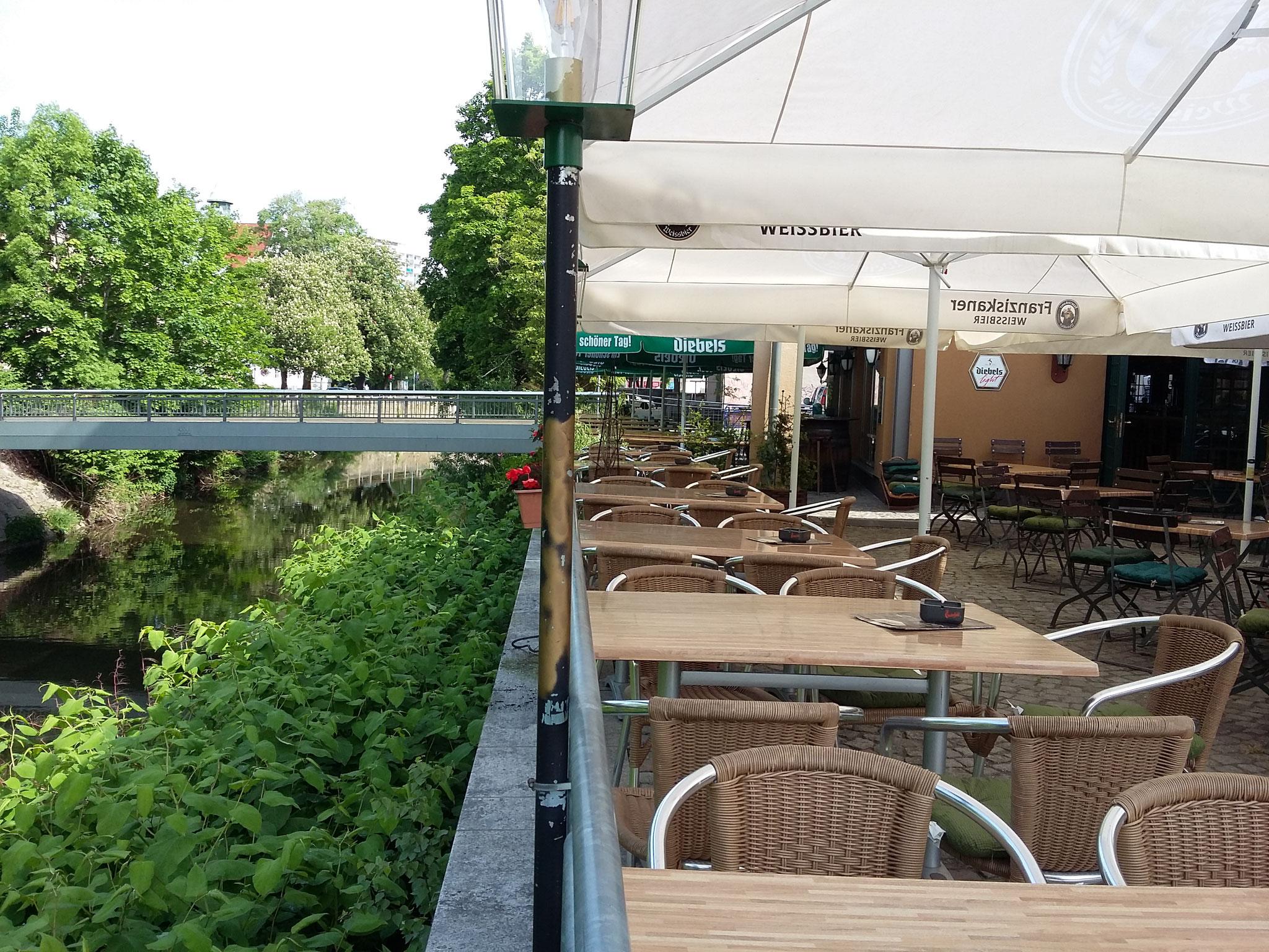 Ein wundervoller Platz an der Chemnitz