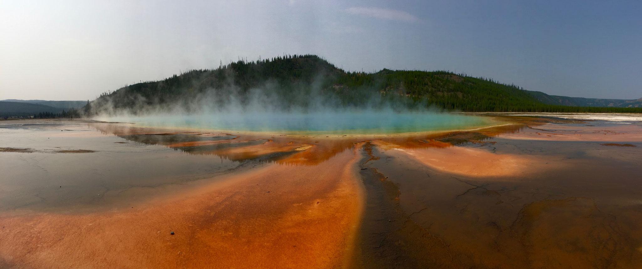 The Grand Prismatic: une manifestation de la géothermie à Yellowstone National Parc (WY USA)