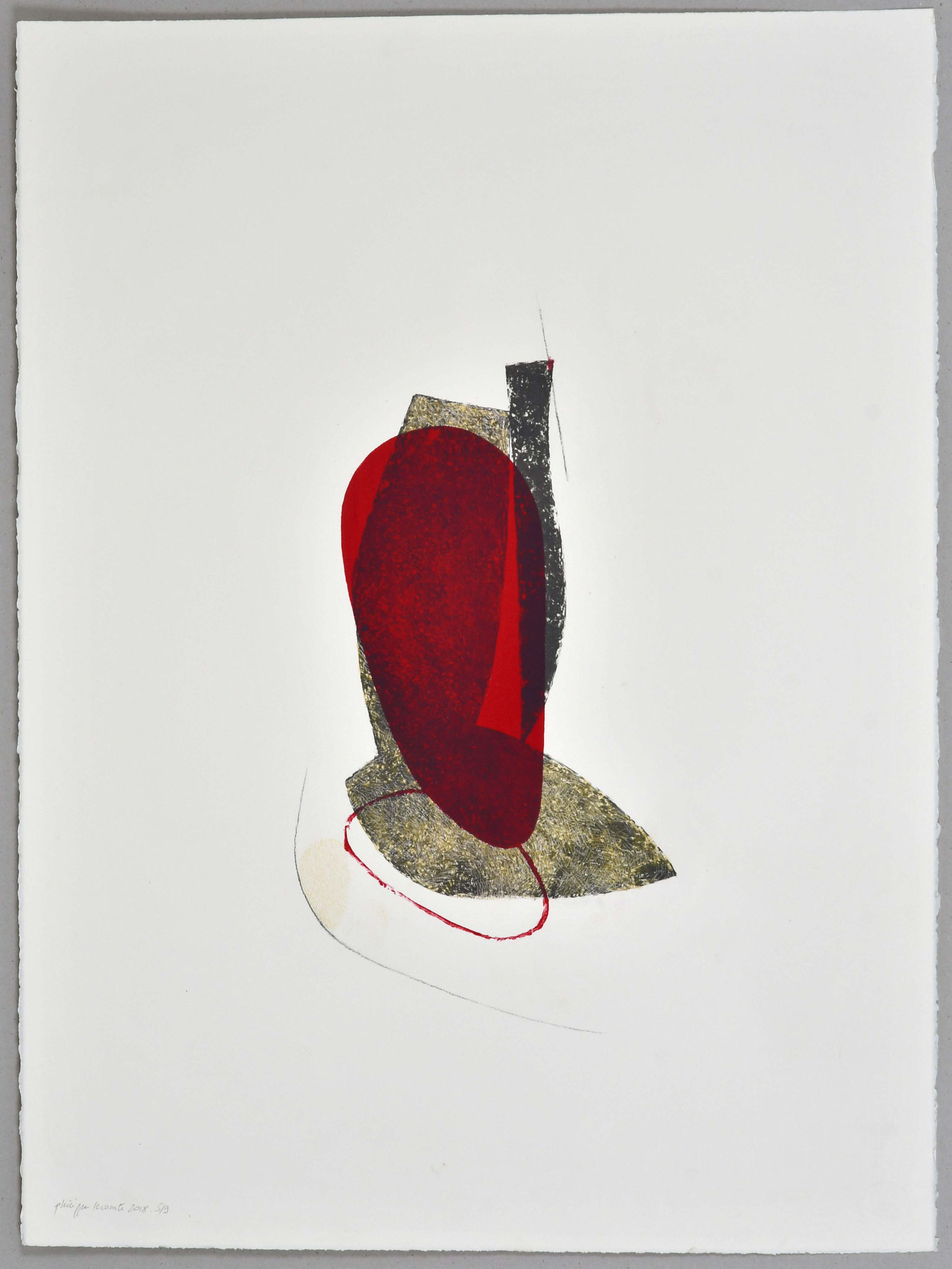 Lithographie rehaussée / 56x76
