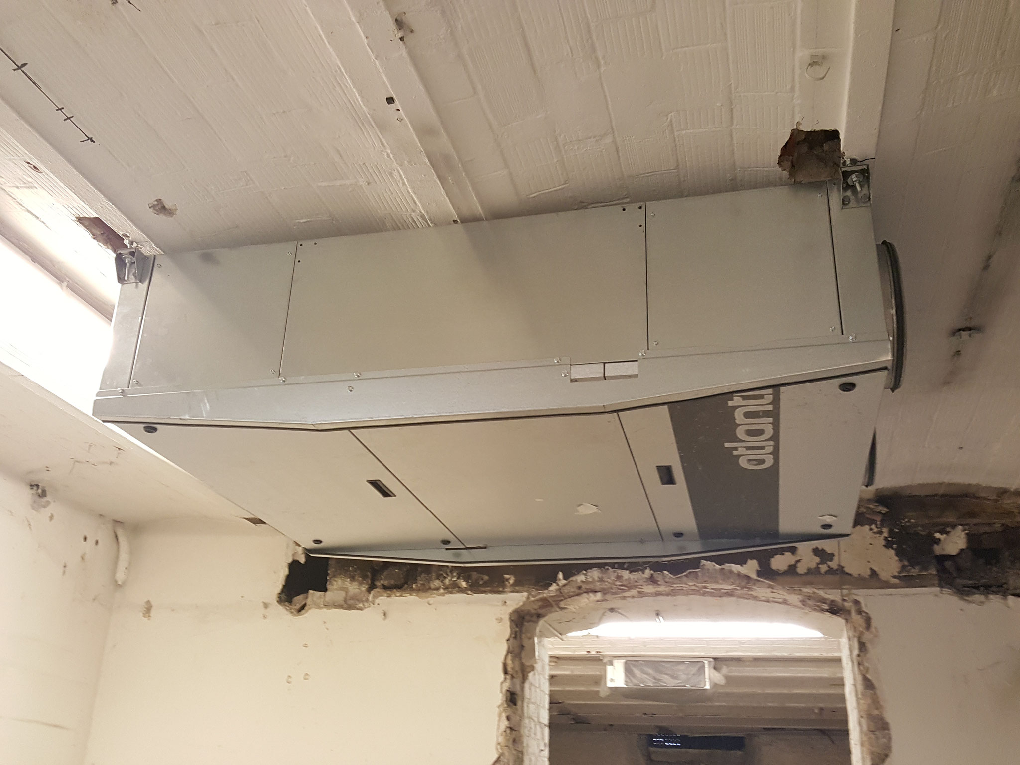 Centrale double flux en sous-sol pour les salles de réunions