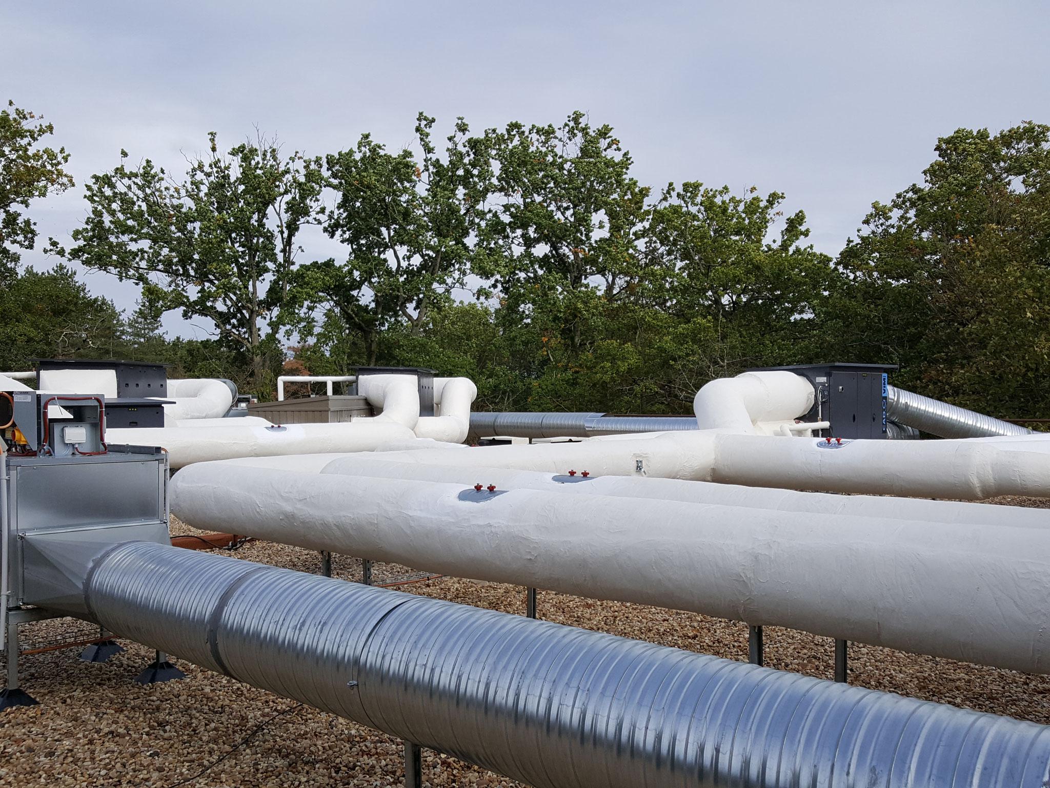 Vue d'ensemble sur 3 centrales de traitement d'air