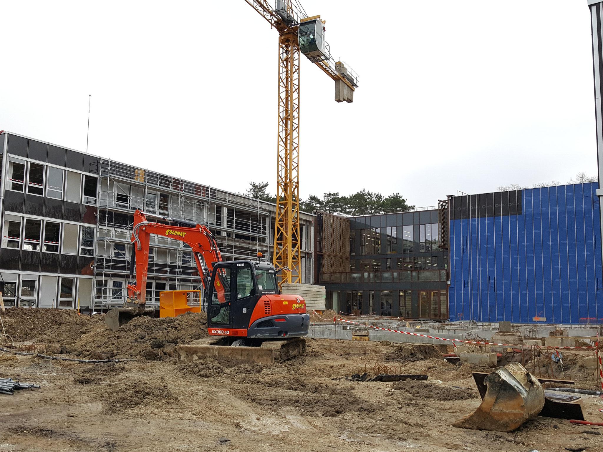 Préparation terrain pour bâtiment H