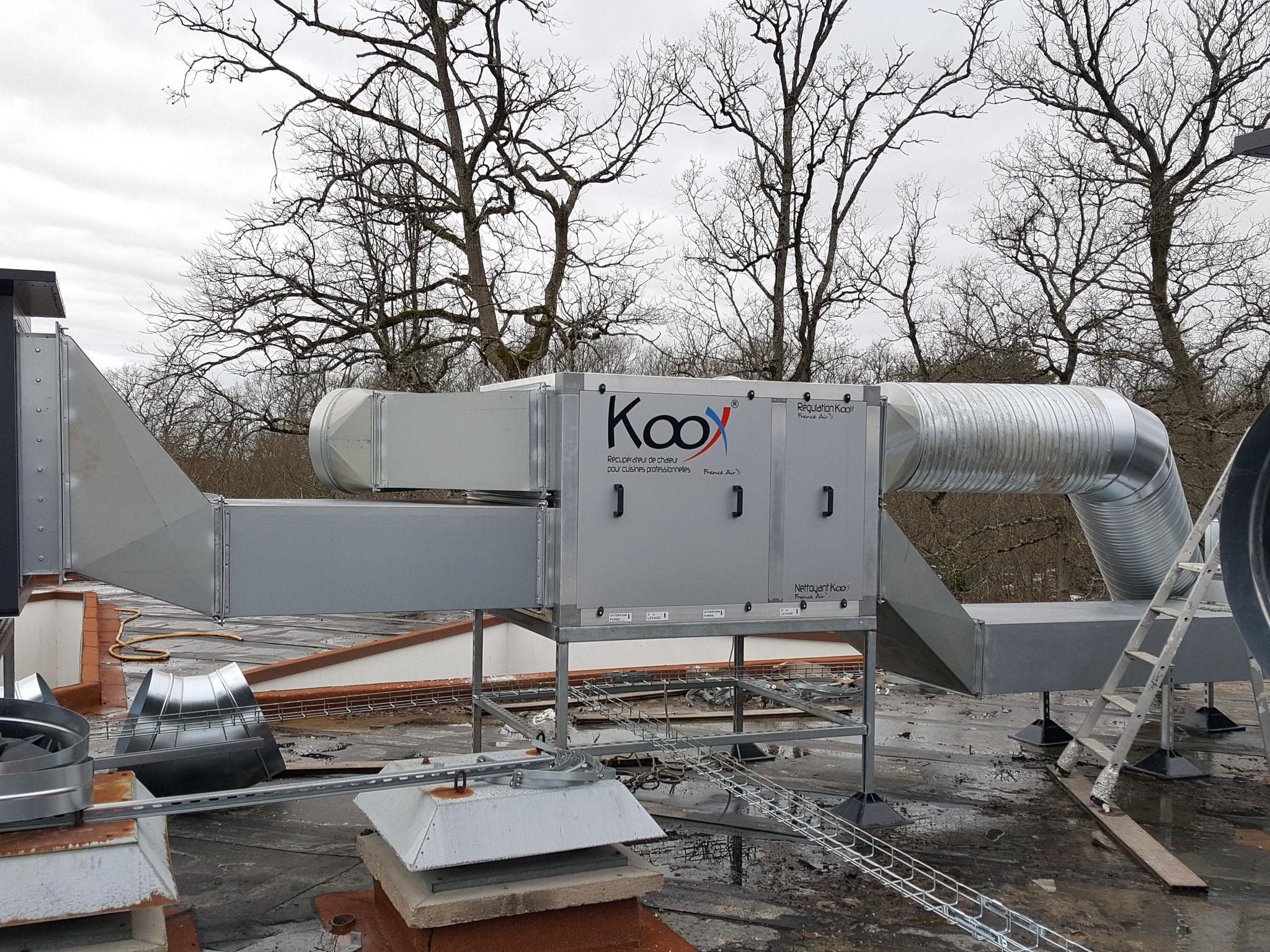 Un récupérateur d'énergie sur air extrait