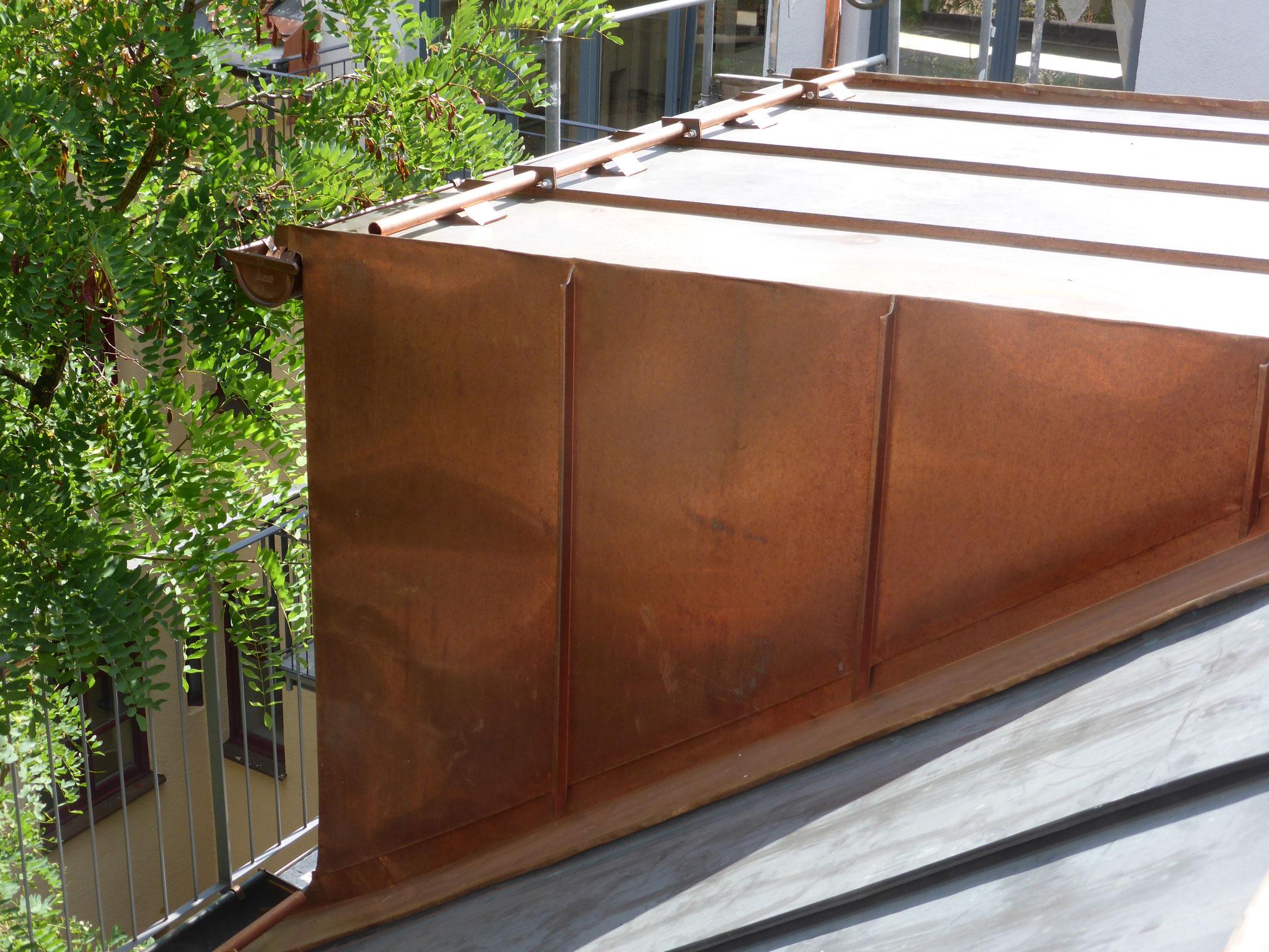 Dachgaubenverkleidung aus Kupfer