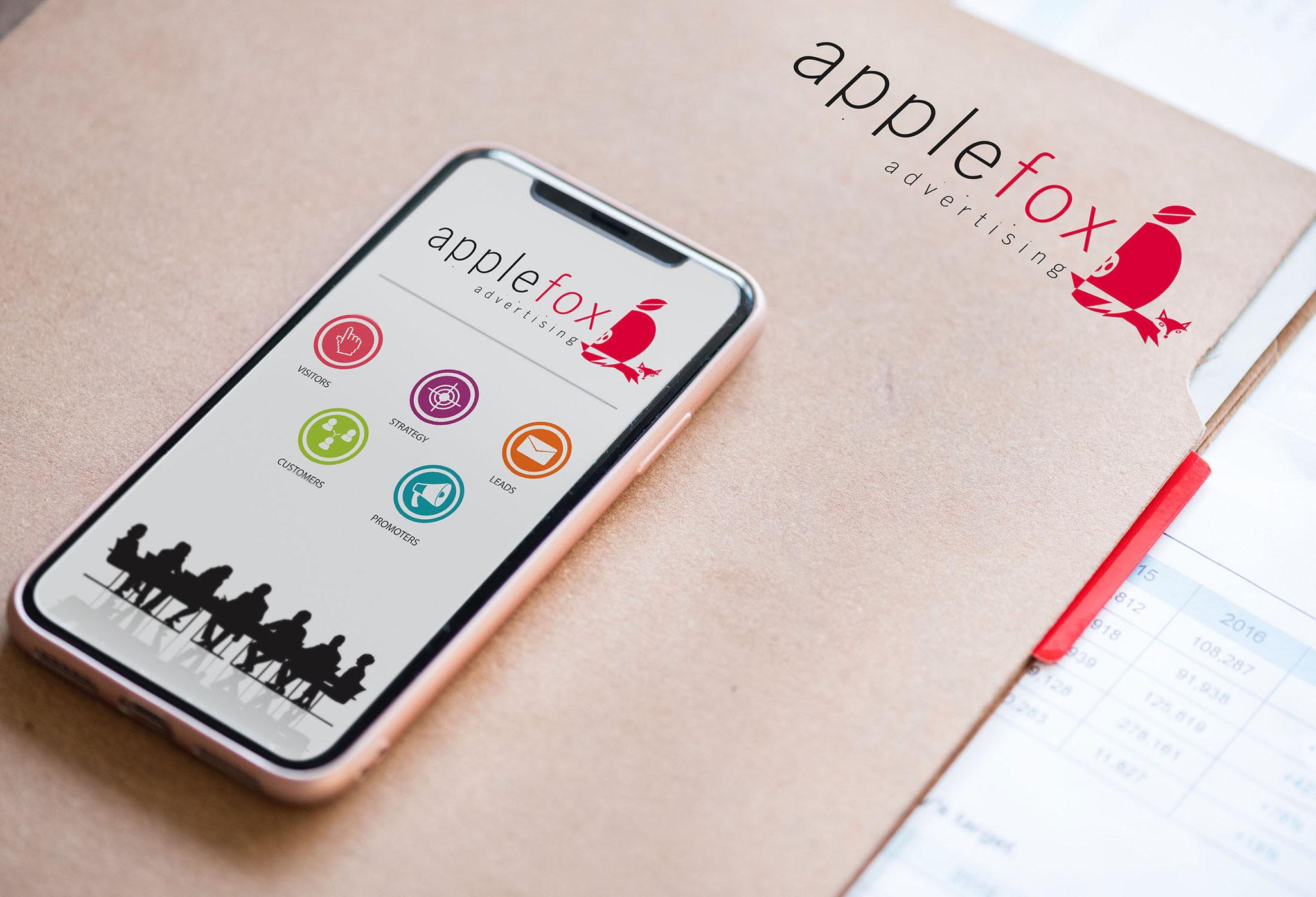 applefox | Logo, CI, Werbekampagne