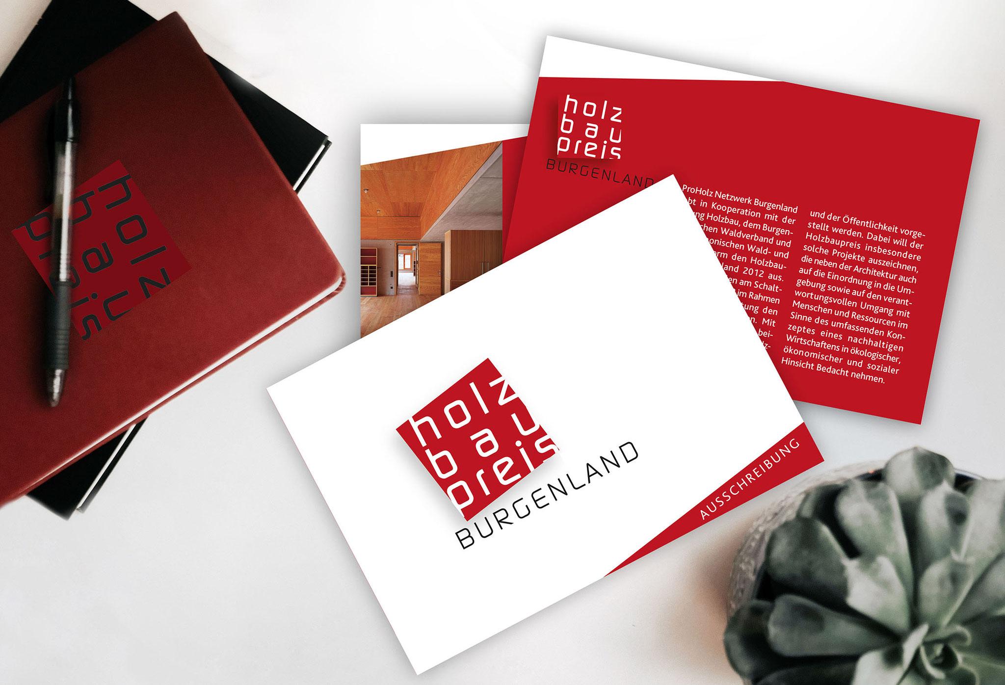 Holzpreis Bgld | CI, Folder, Einladung