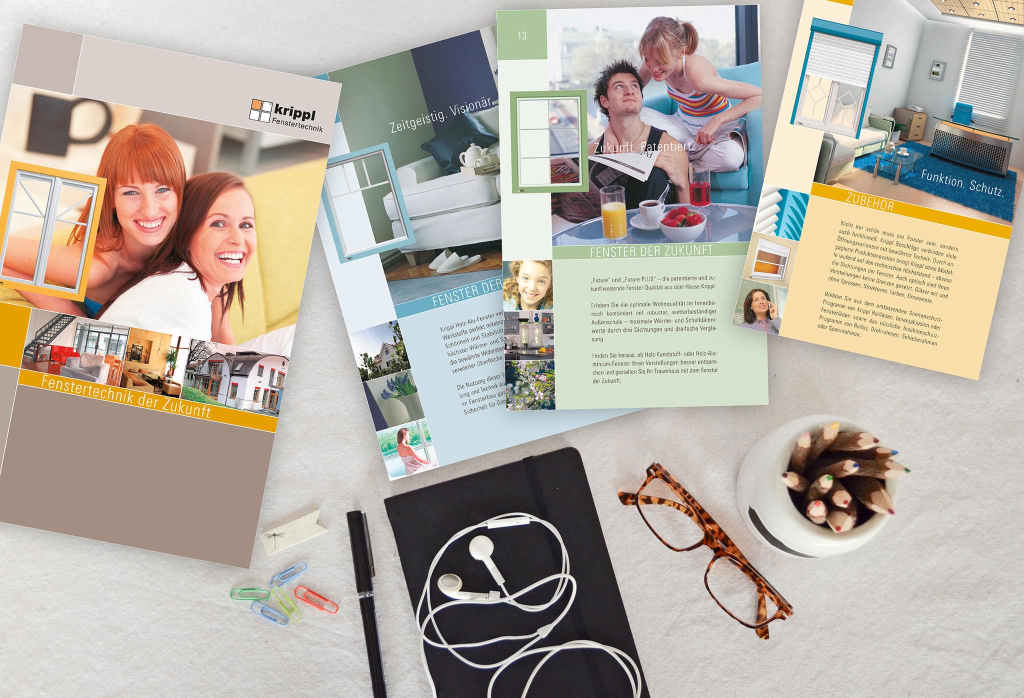 Krippl GmbH |Broschüre, Website