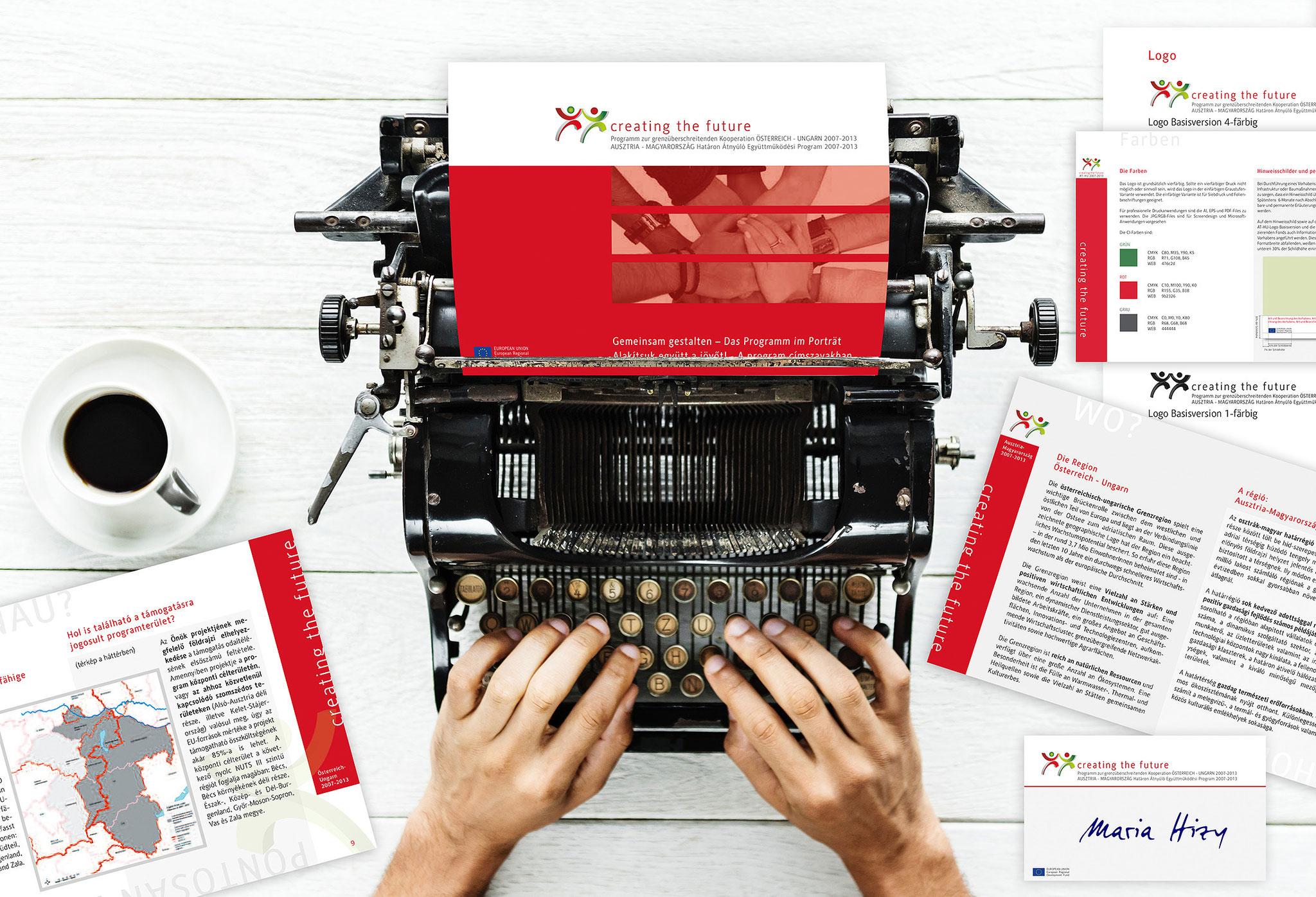 creating the future | CI, Werbekampagne, Website