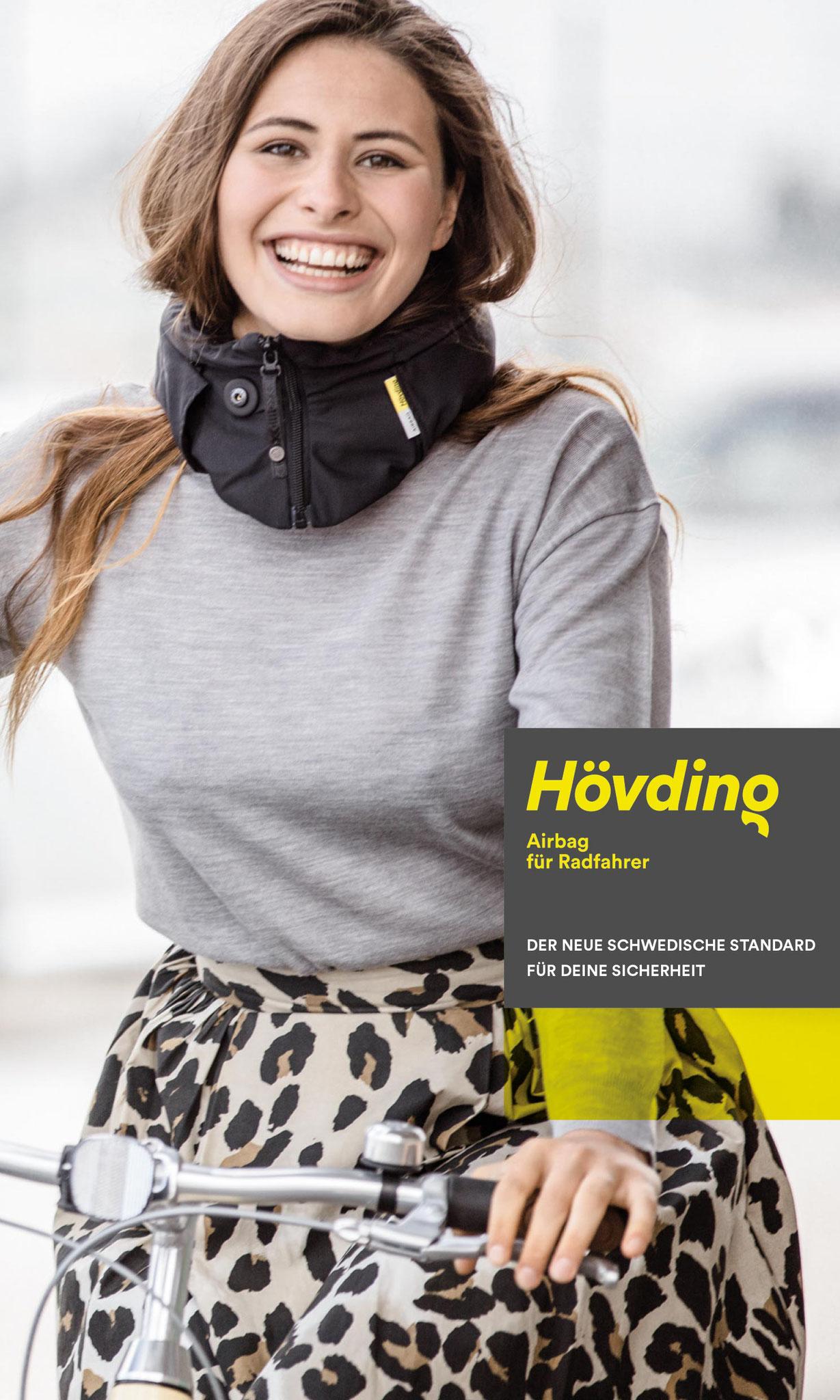 Hövding Airbaghelm: 3-mal bessere Stoßdämpfung als herkömmliche Helme