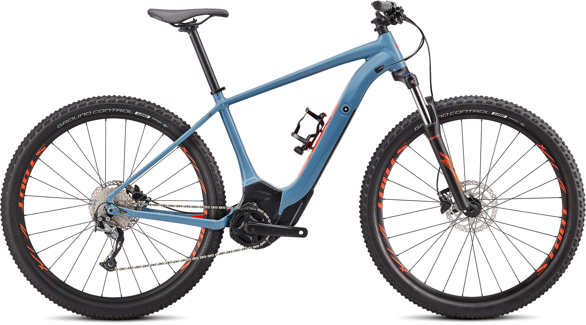 Specialized Turbo Levo Hardtail - Storm Grey, Rocket Red